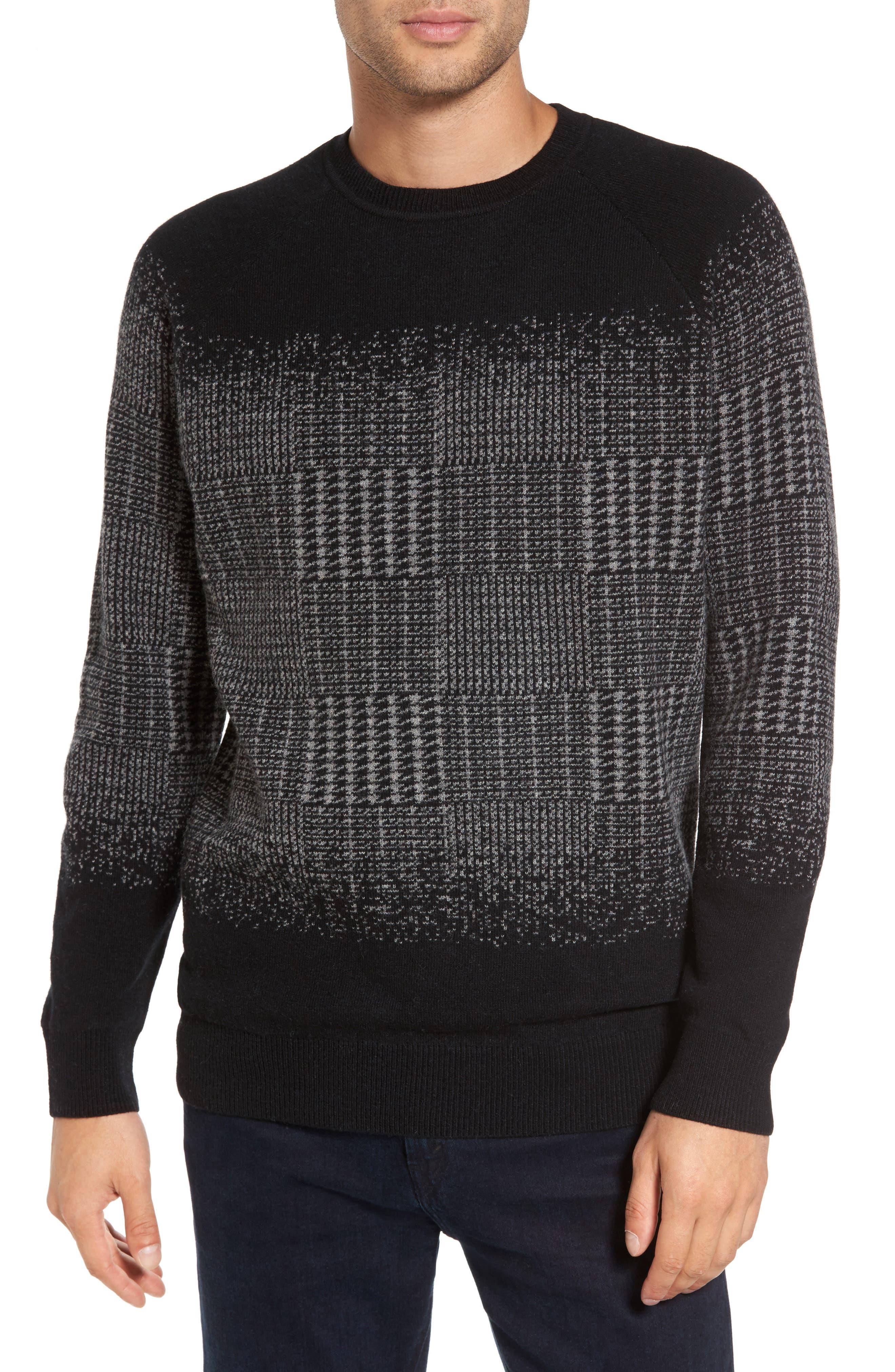 Slate & Stone Block Pattern Wool Sweater