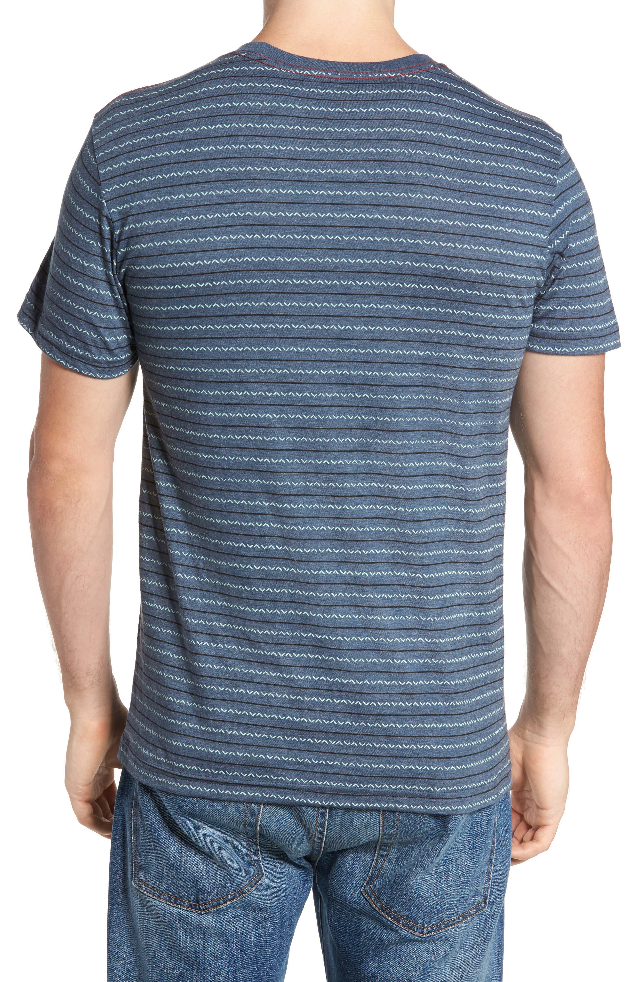 Chevron Stripe T-Shirt,                             Alternate thumbnail 2, color,                             Dark Denim