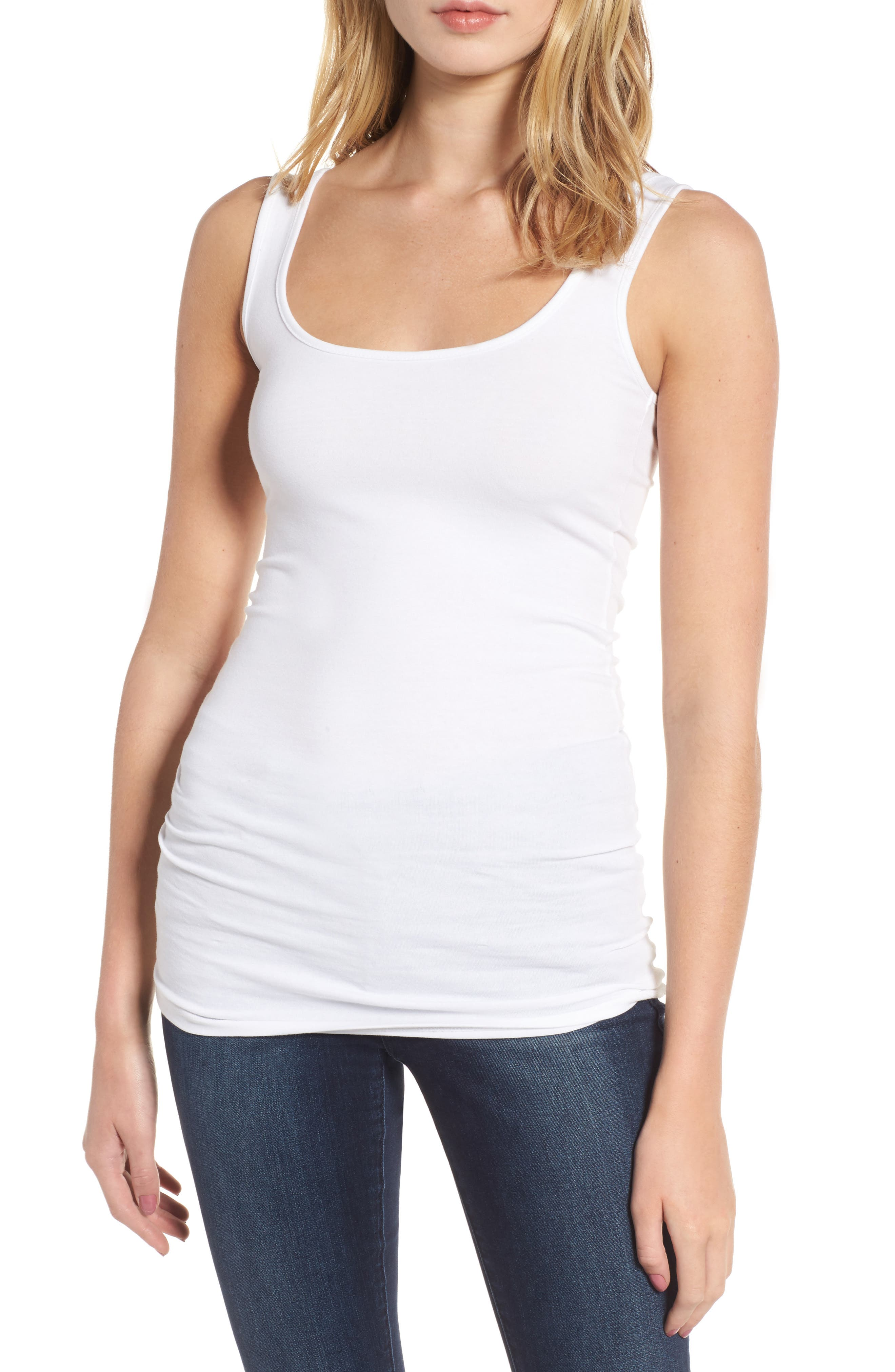 Double Scoop Tank,                         Main,                         color, New White