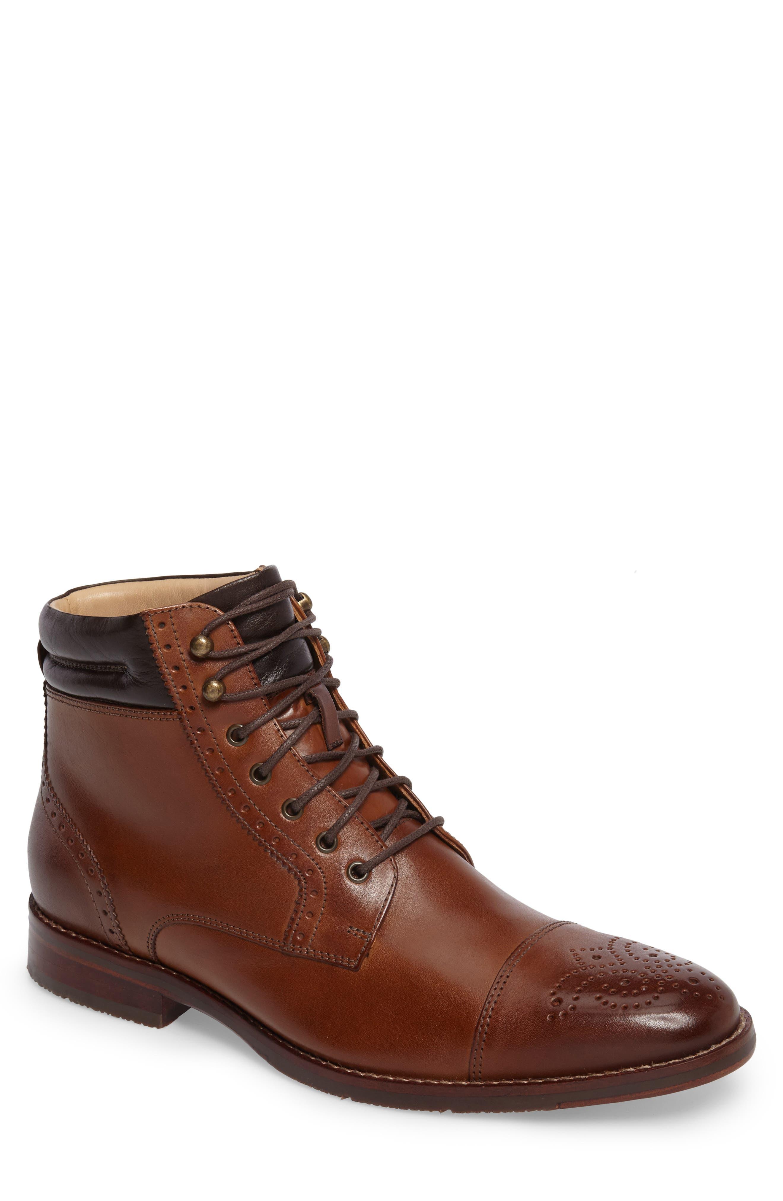 Johnston & Murphy Garner Cap Toe Boot (Men)