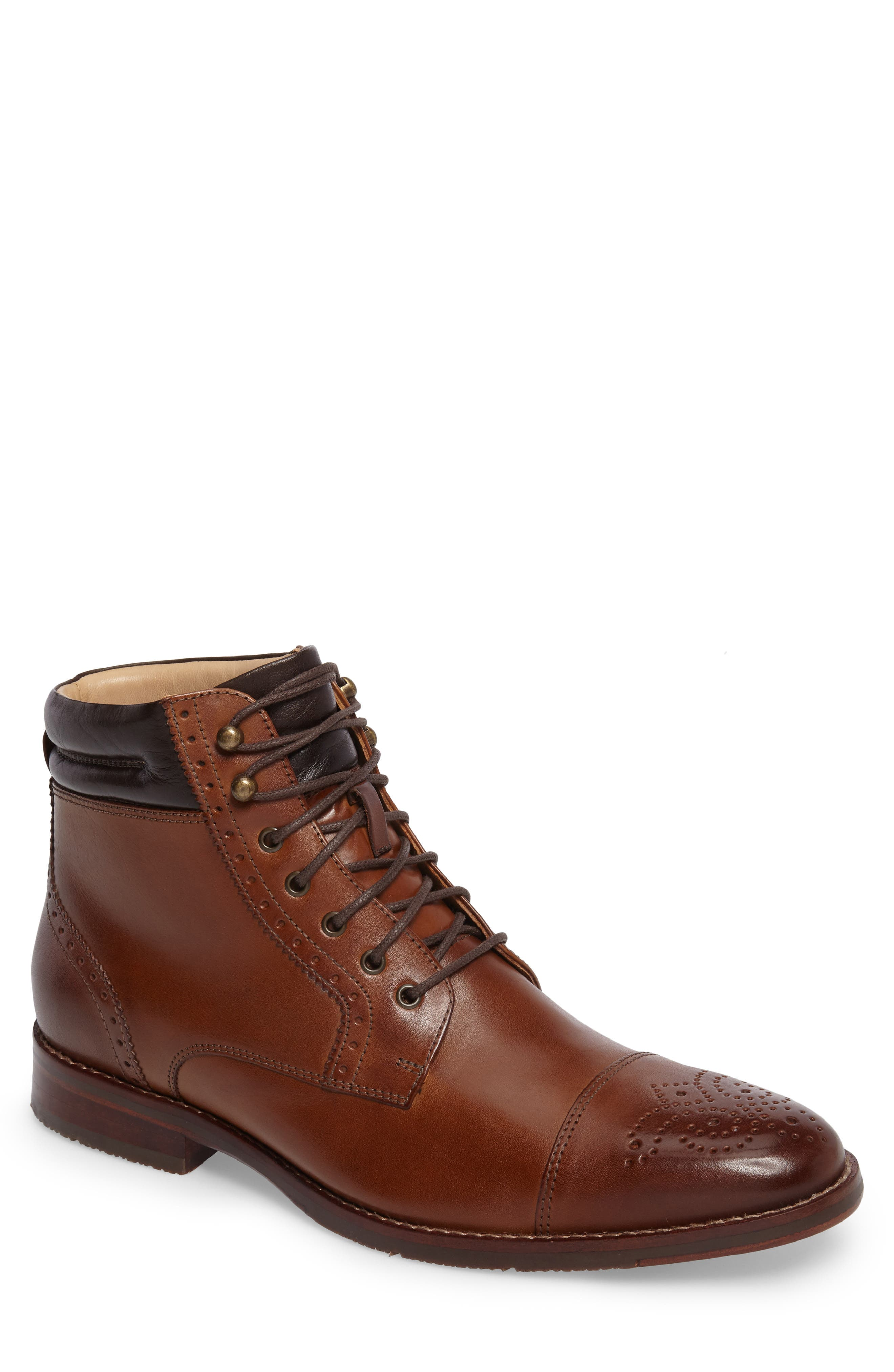 Johnston & Murphy Garner Cap Toe Boot (Men)
