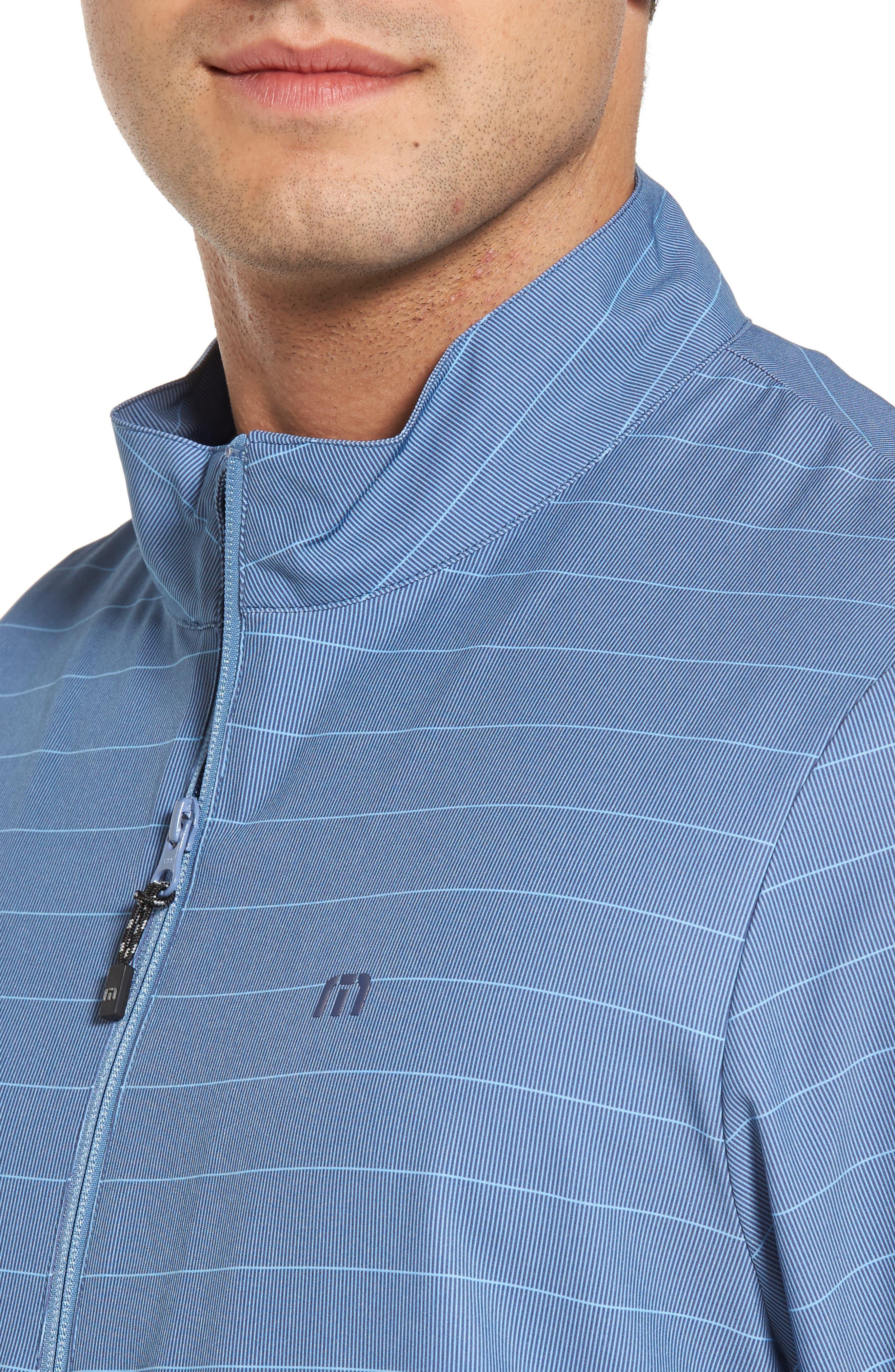 Dubes Quarter Zip Pullover Jacket,                             Alternate thumbnail 4, color,                             Blue Indigo