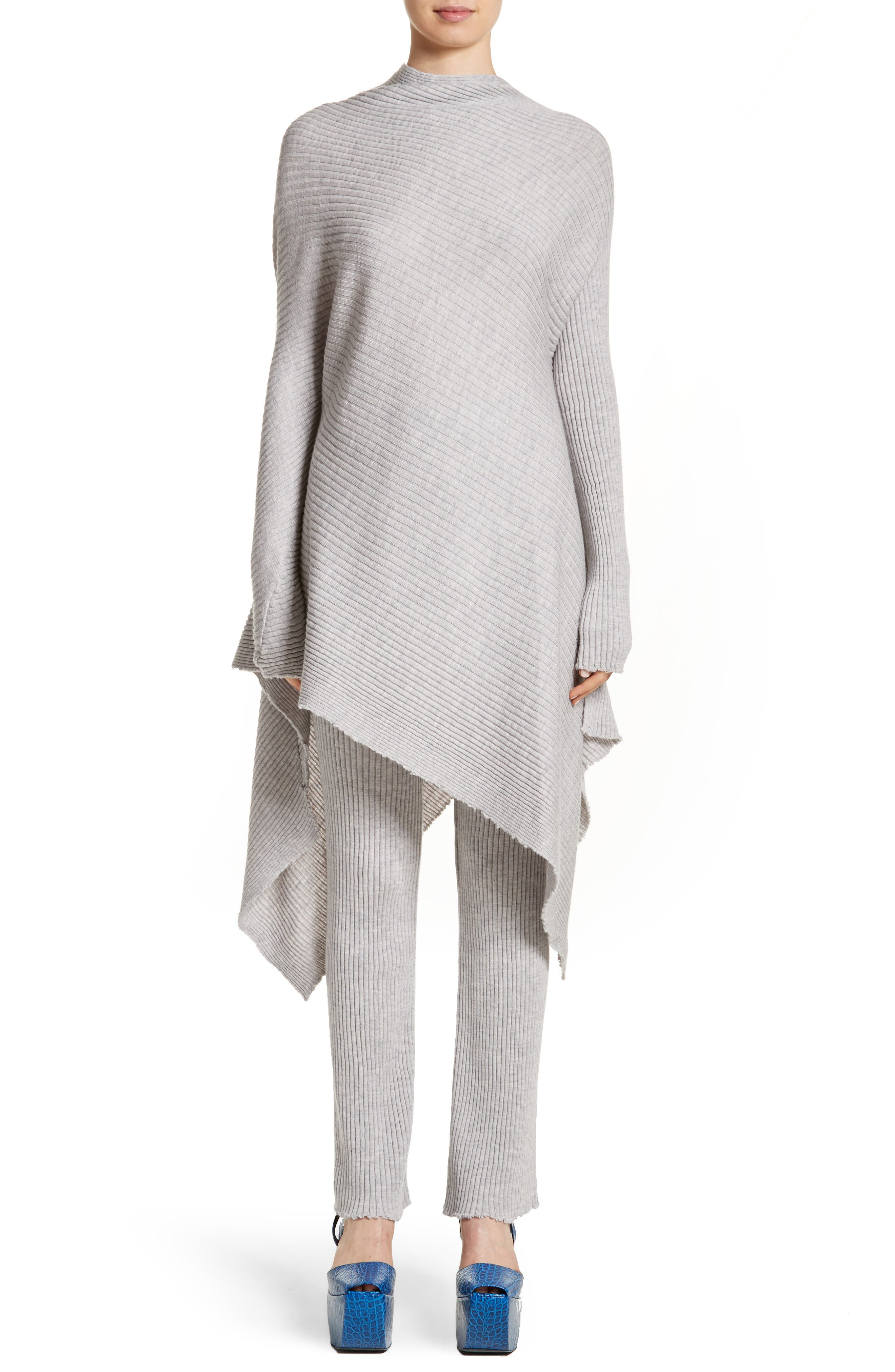 Marques'Almeida Ribbed Sweater with Asymmetrical Hem