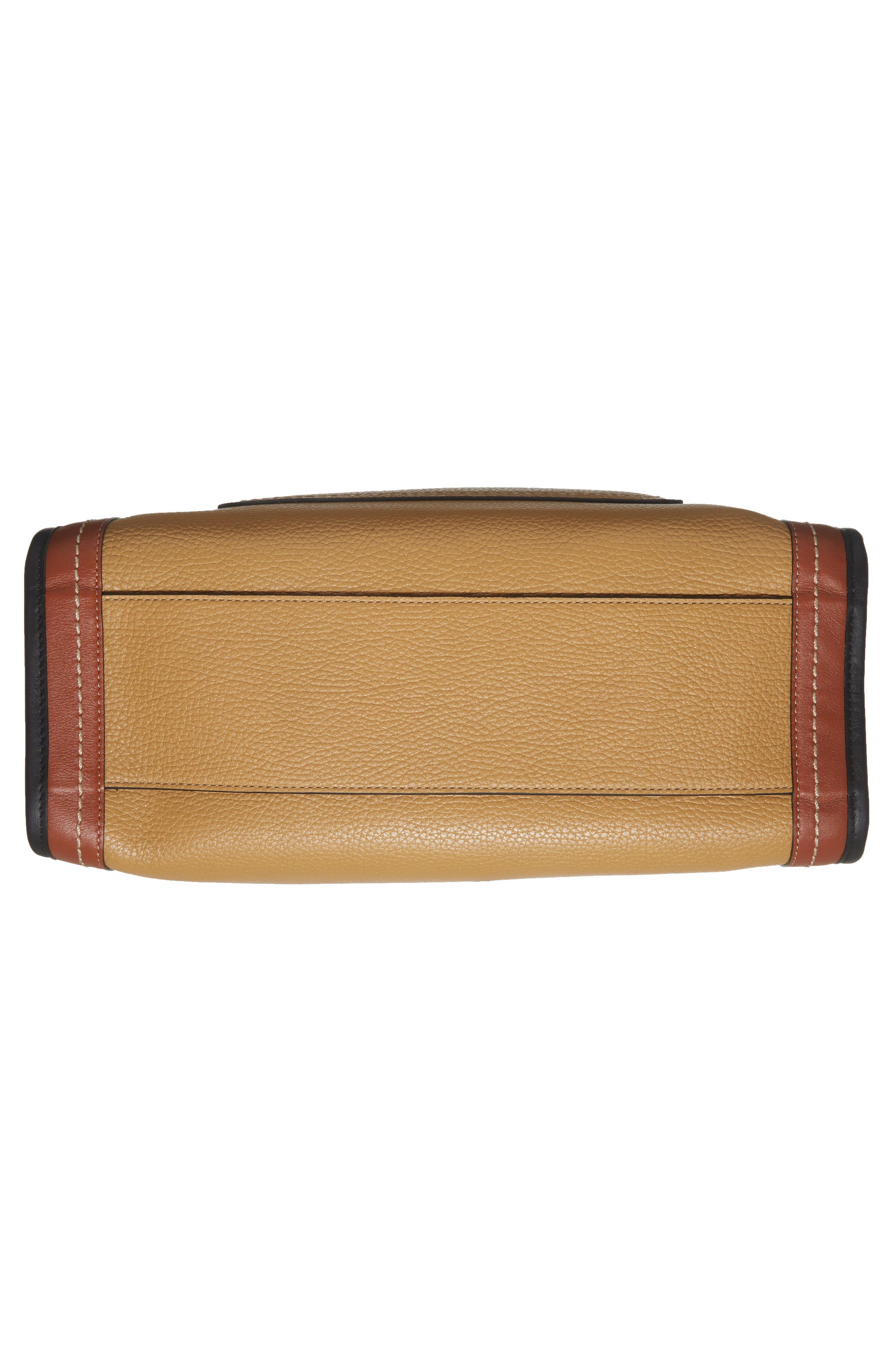 The Dalmatian Grind East/West Leather Shopper & Genuine Calf Hair Pouch,                             Alternate thumbnail 4, color,                             Beige Multi