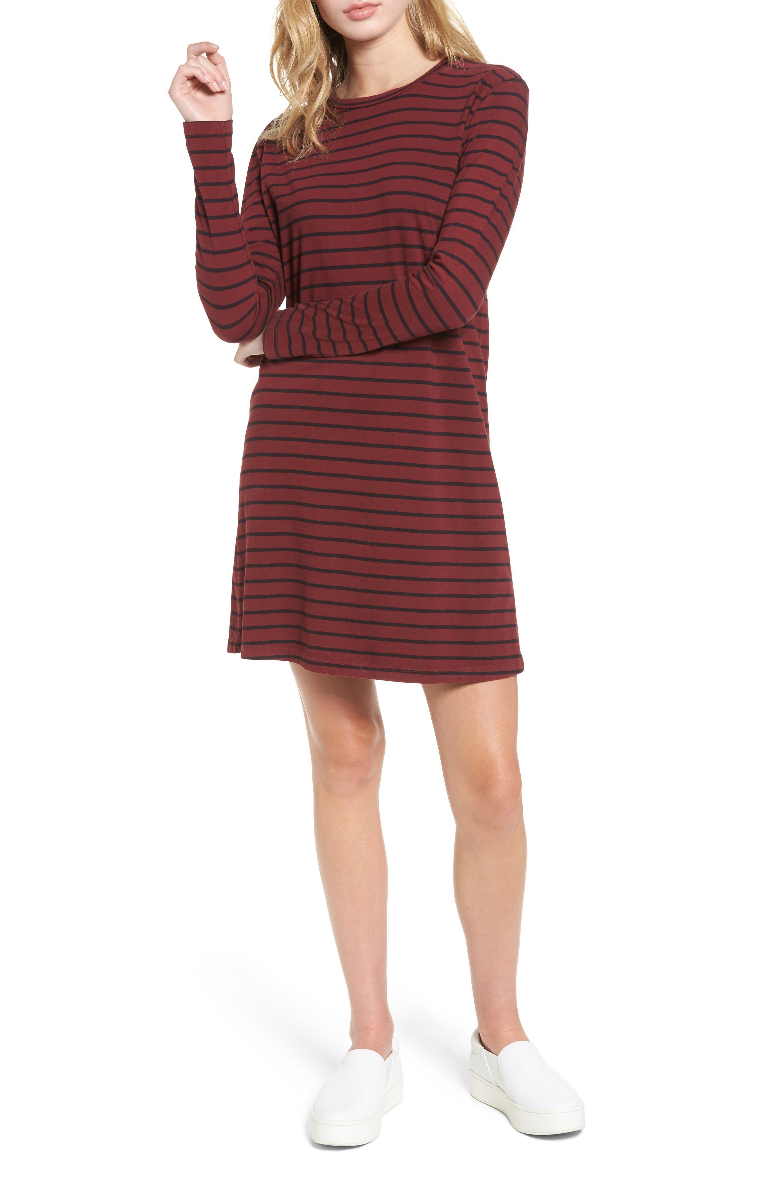 The Beatnik T-Shirt Dress,                         Main,                         color, Cabernet