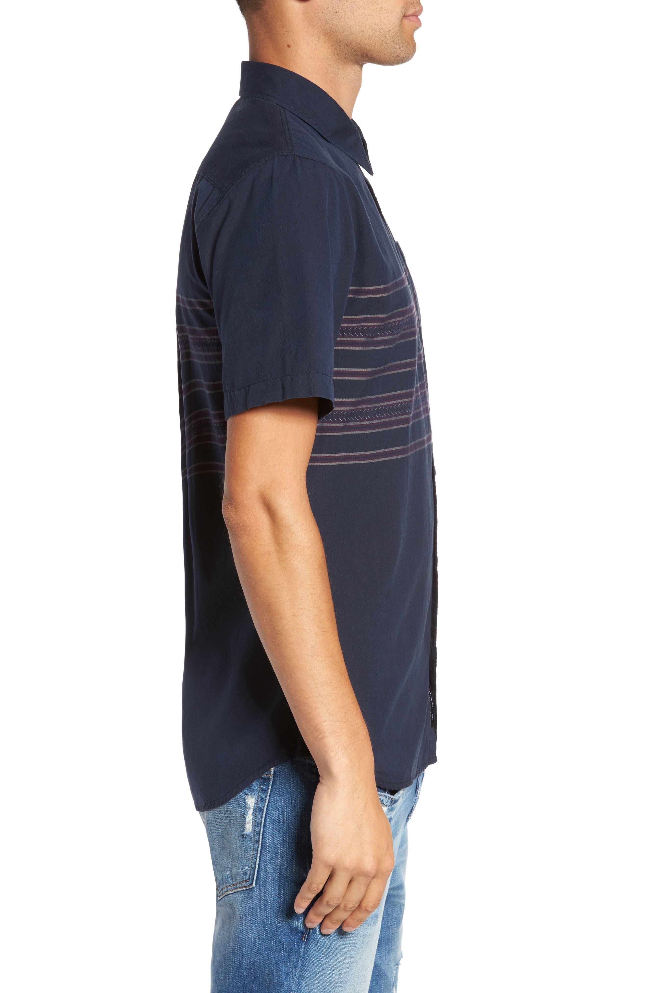 Alternate Image 3  - Vans Benmore Striped Woven Shirt