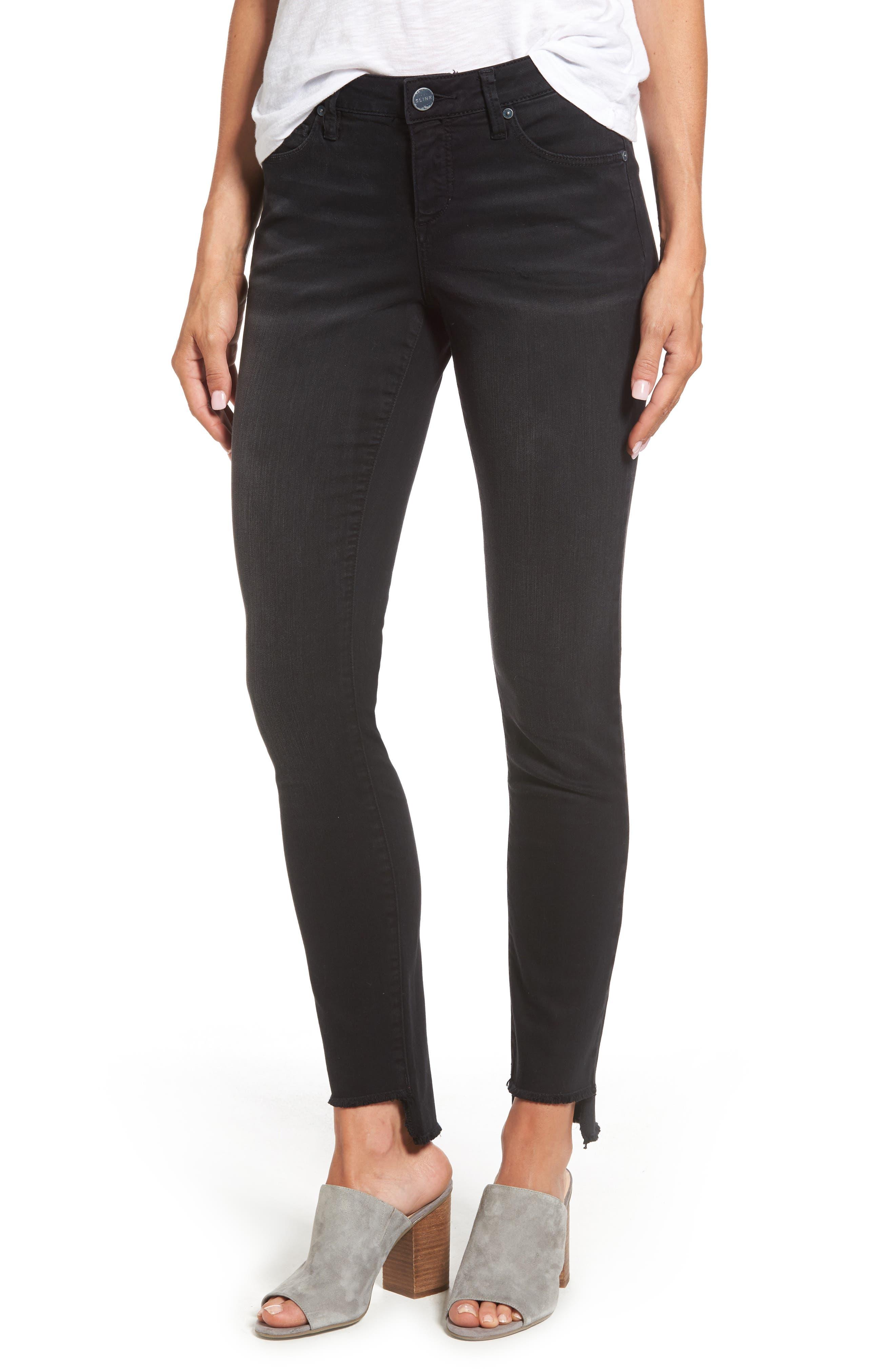 Alternate Image 1 Selected - SLINK Jeans Step Hem Skinny Jeans (Mimi)