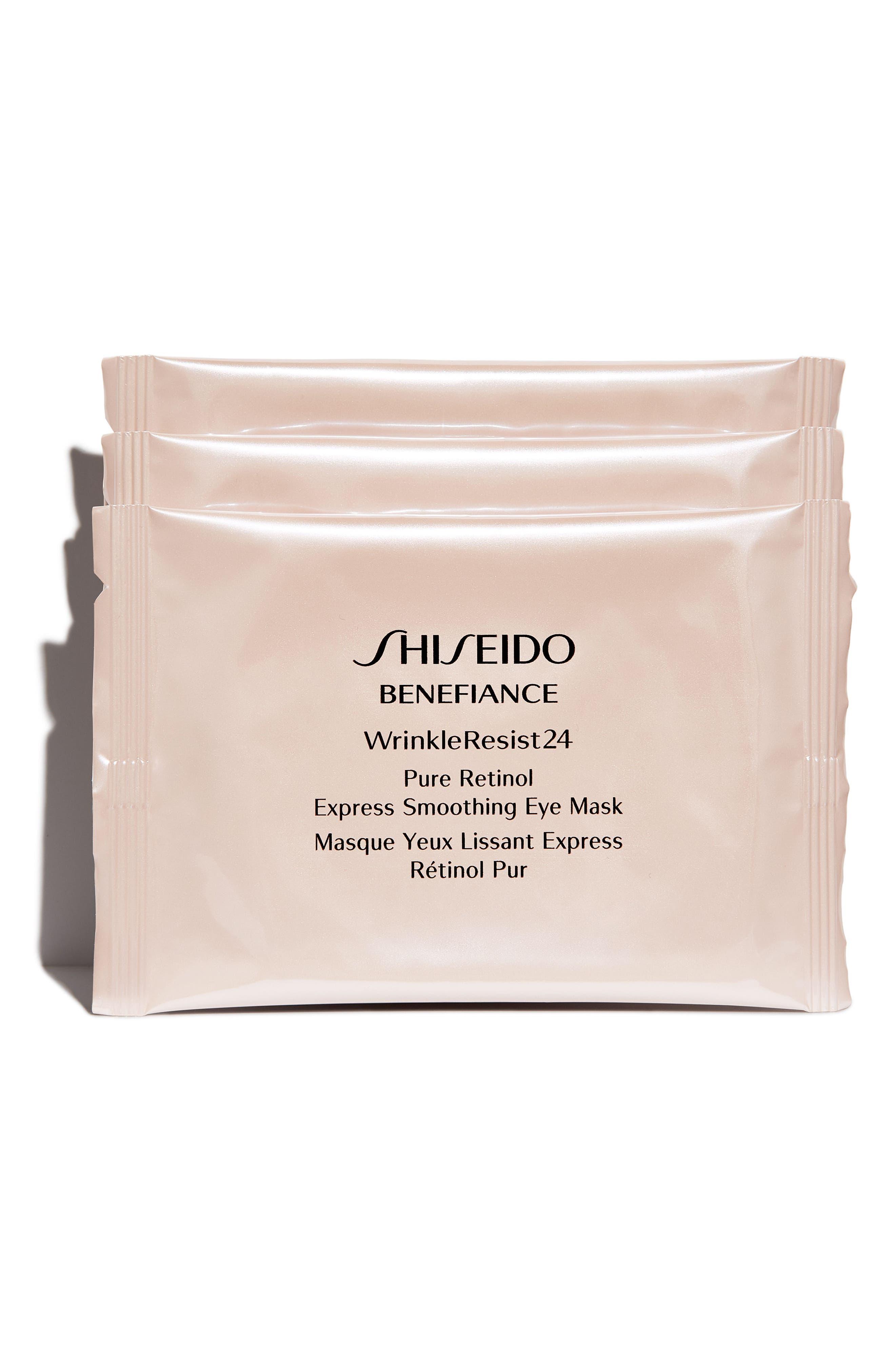Benefiance WrinkleResist24 Pure Retinol Express Smoothing 3-Pack Eye Masks,                             Alternate thumbnail 2, color,                             No Color