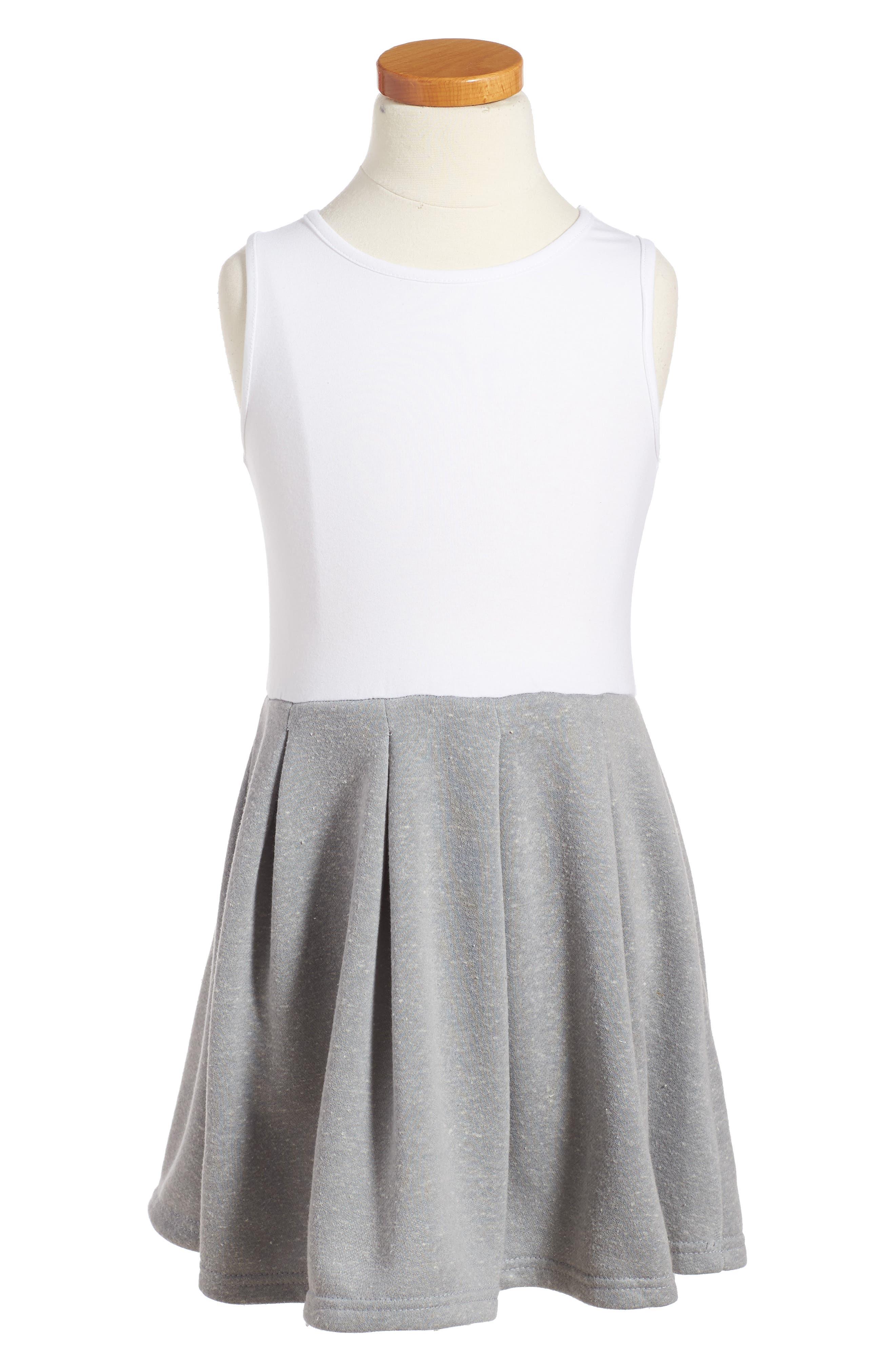 Pastourelle by Pippa and Julie Sleeveless Dress & Sweatshirt Set,                             Alternate thumbnail 2, color,                             Grey