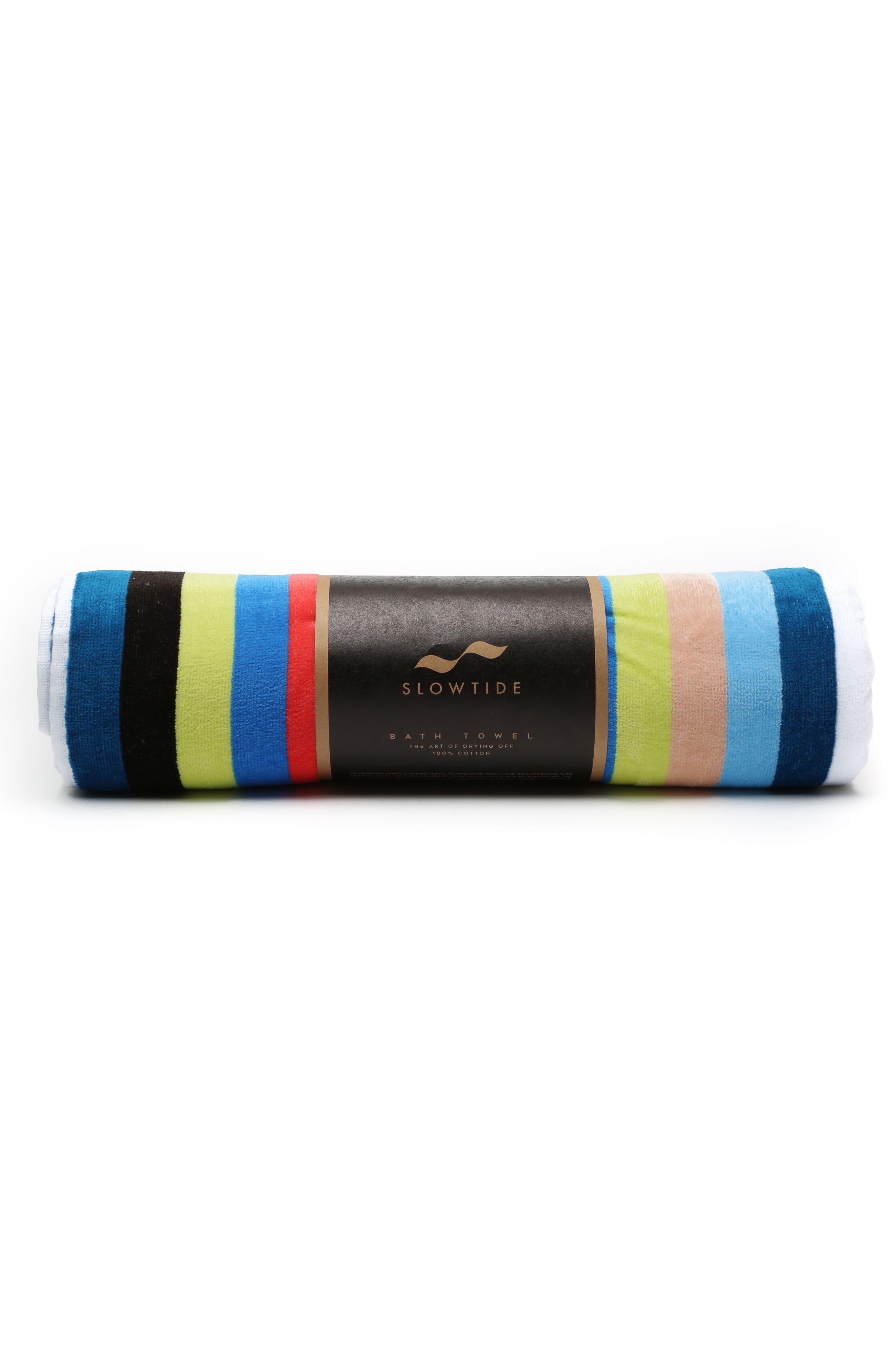 Versa Beach Towel,                             Alternate thumbnail 3, color,                             Blue Multi