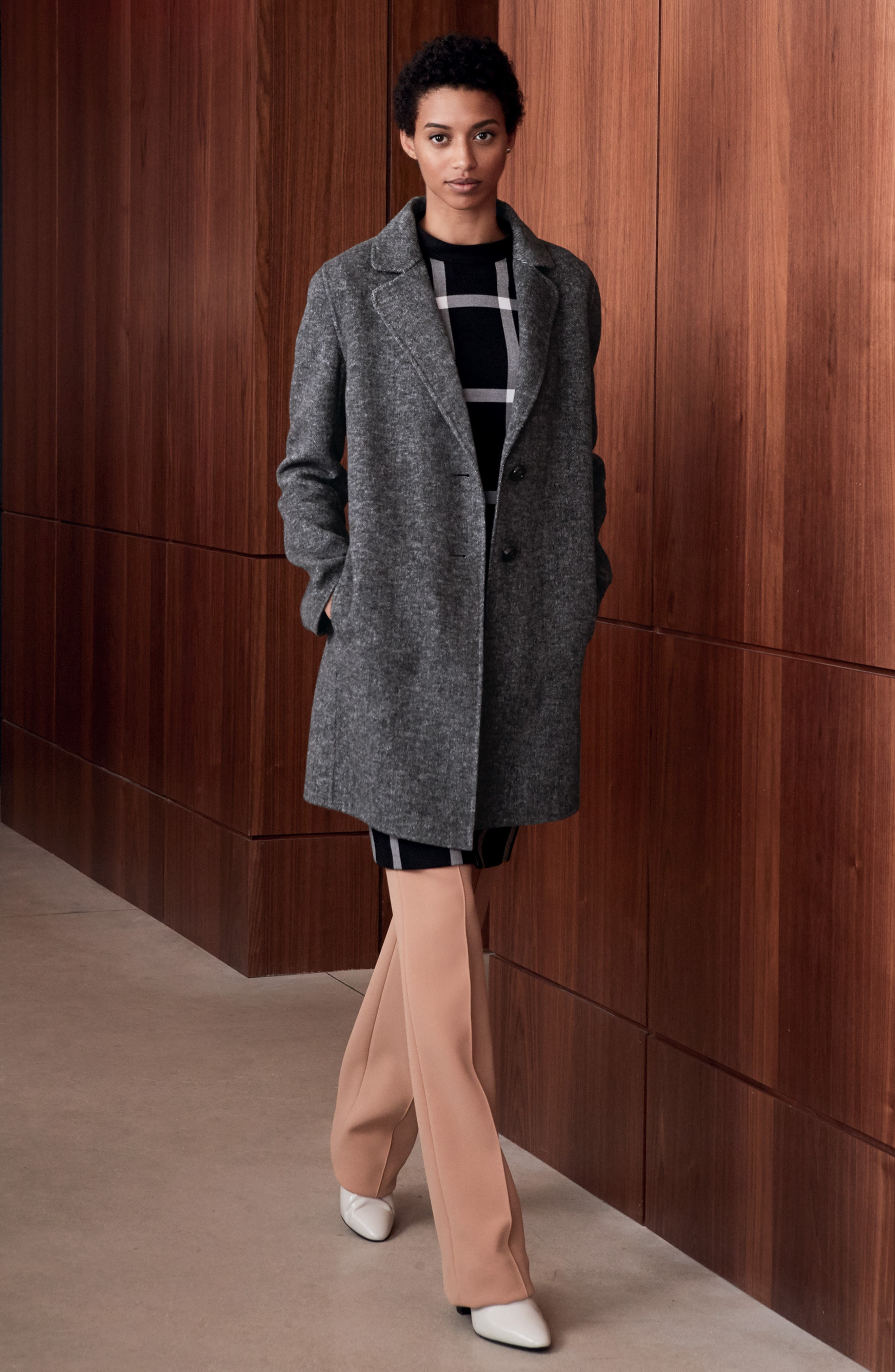 Tahari Blazer, BOSS dress & Diane von Furstenberg Pants