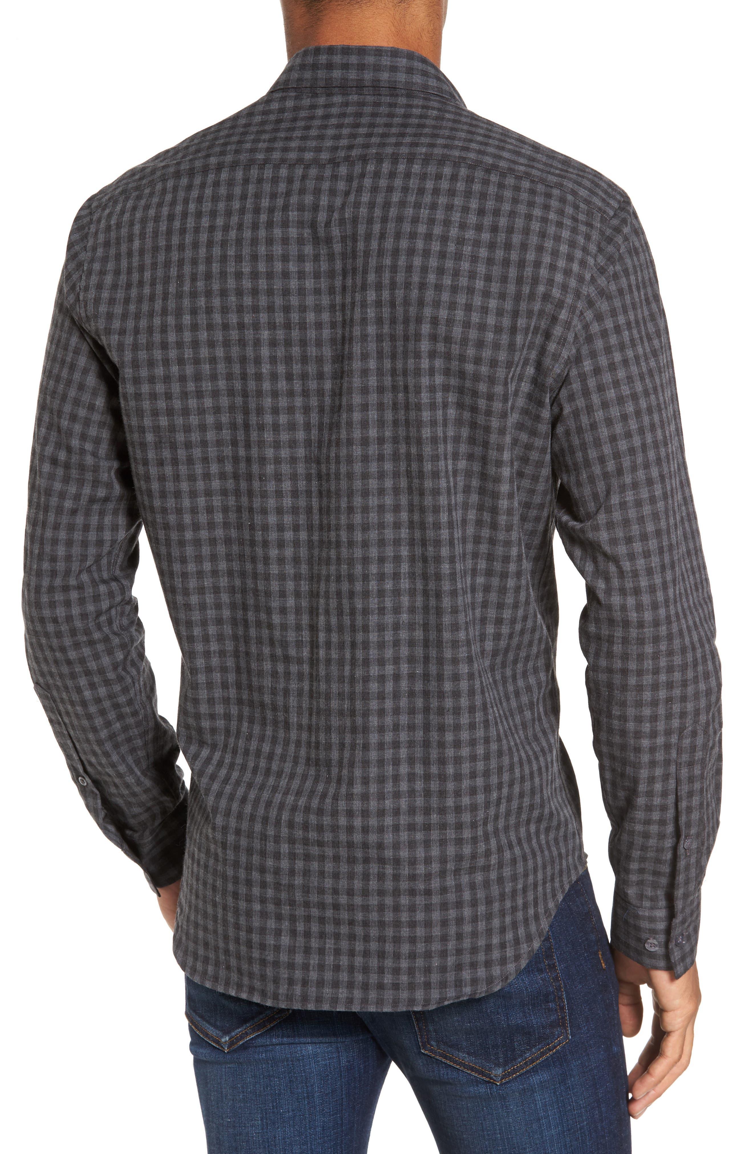 Slim Fit Print Sport Shirt,                             Alternate thumbnail 2, color,                             Grey