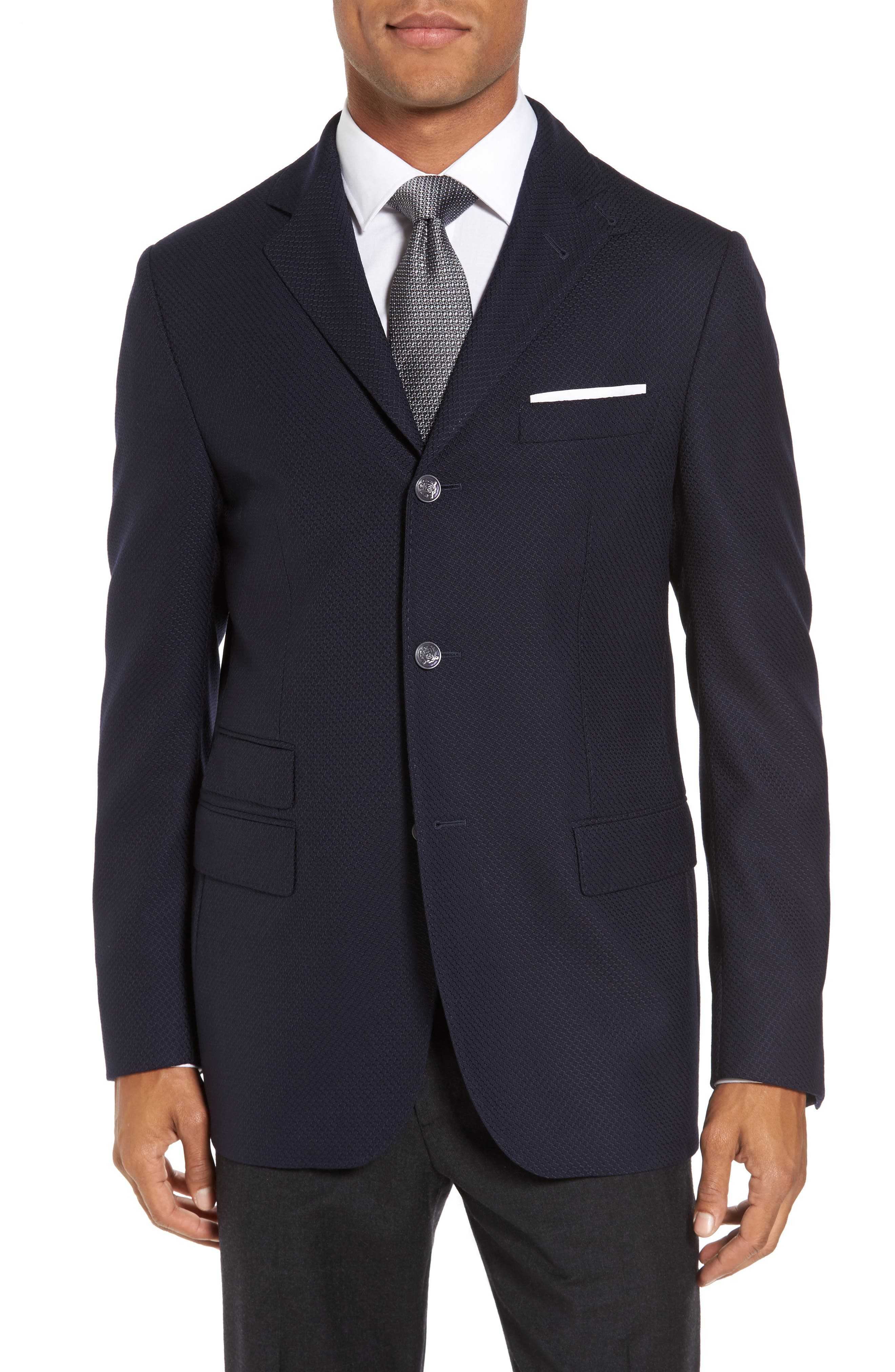 ID Classic Fit Wool Jacket,                             Alternate thumbnail 2, color,                             Ink