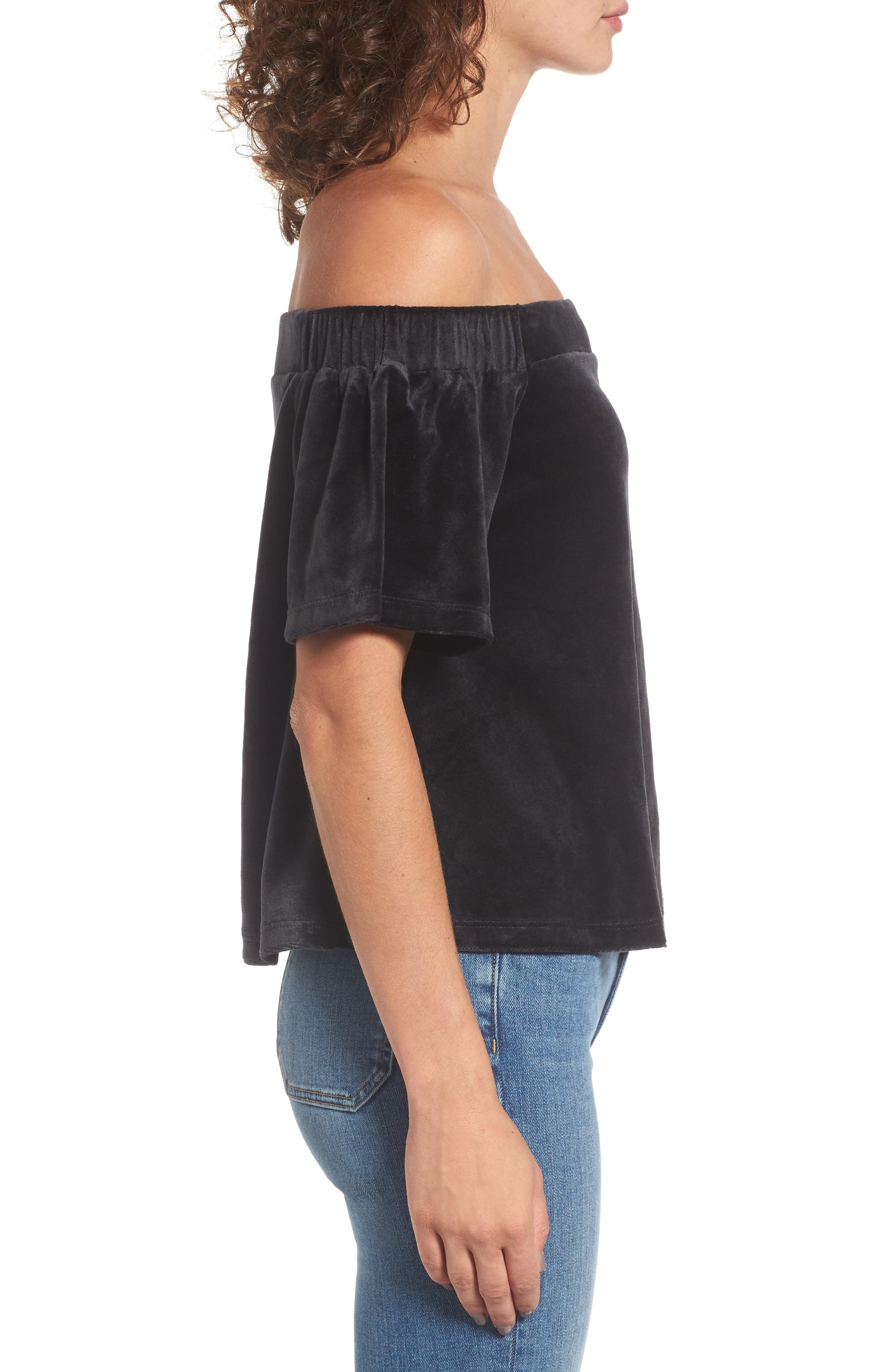 Alternate Image 3  - Juicy Couture Velour Off the Shoulder Top