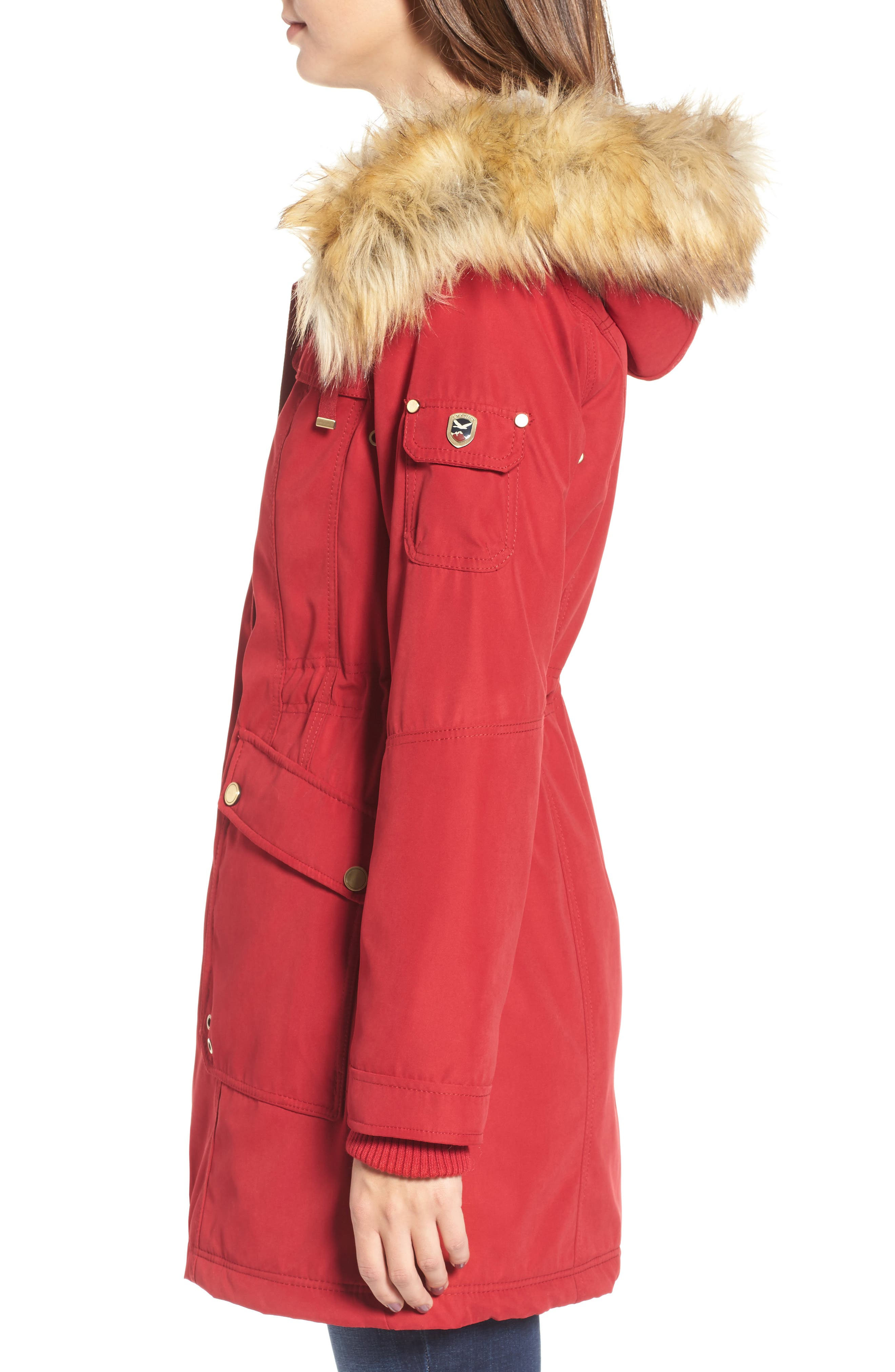Alternate Image 3  - 1 Madison Anorak Parka with Faux Fur Trim