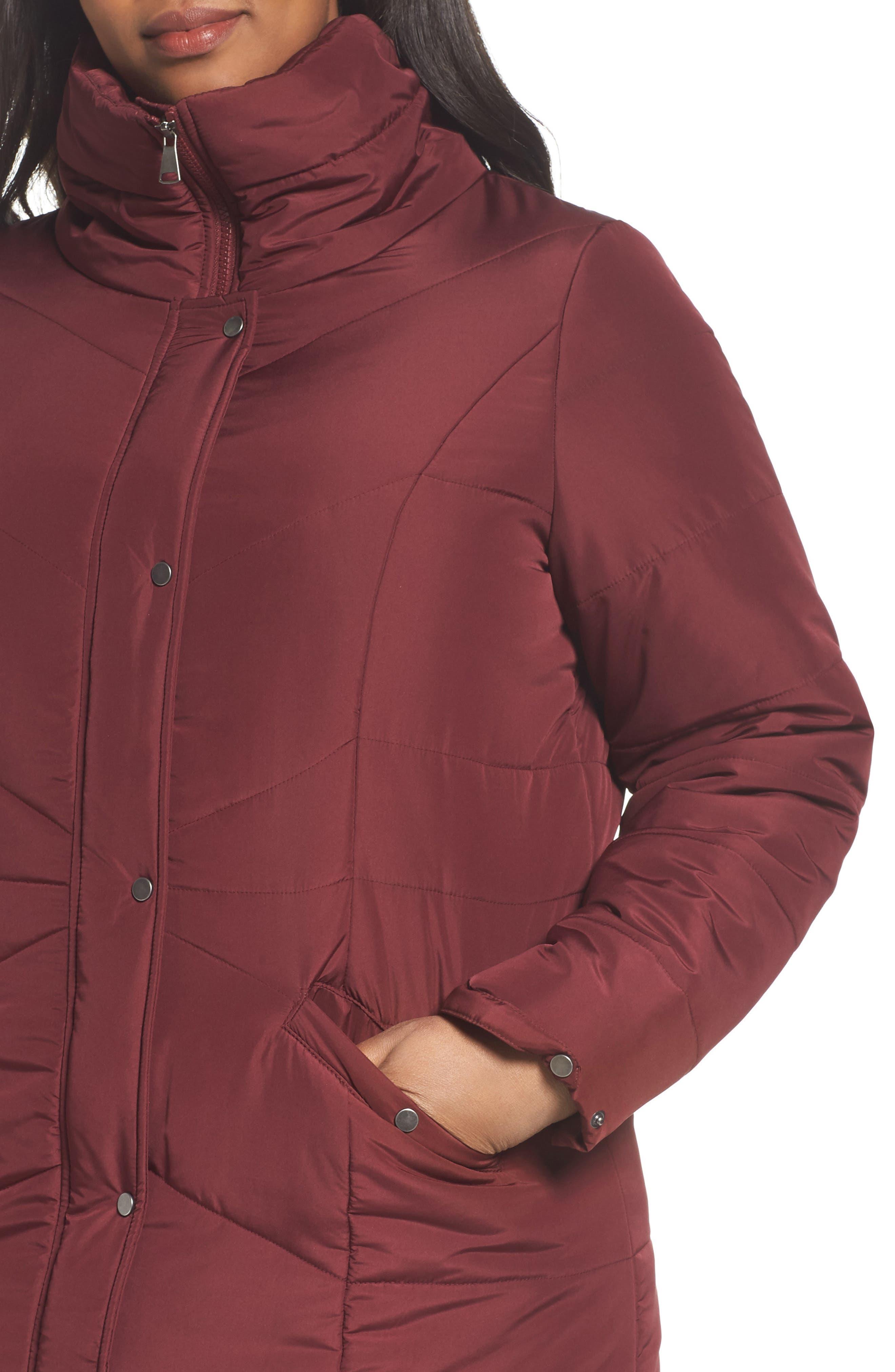 Alternate Image 4  - JUNAROSE Valsi Puffer Jacket (Plus Size)