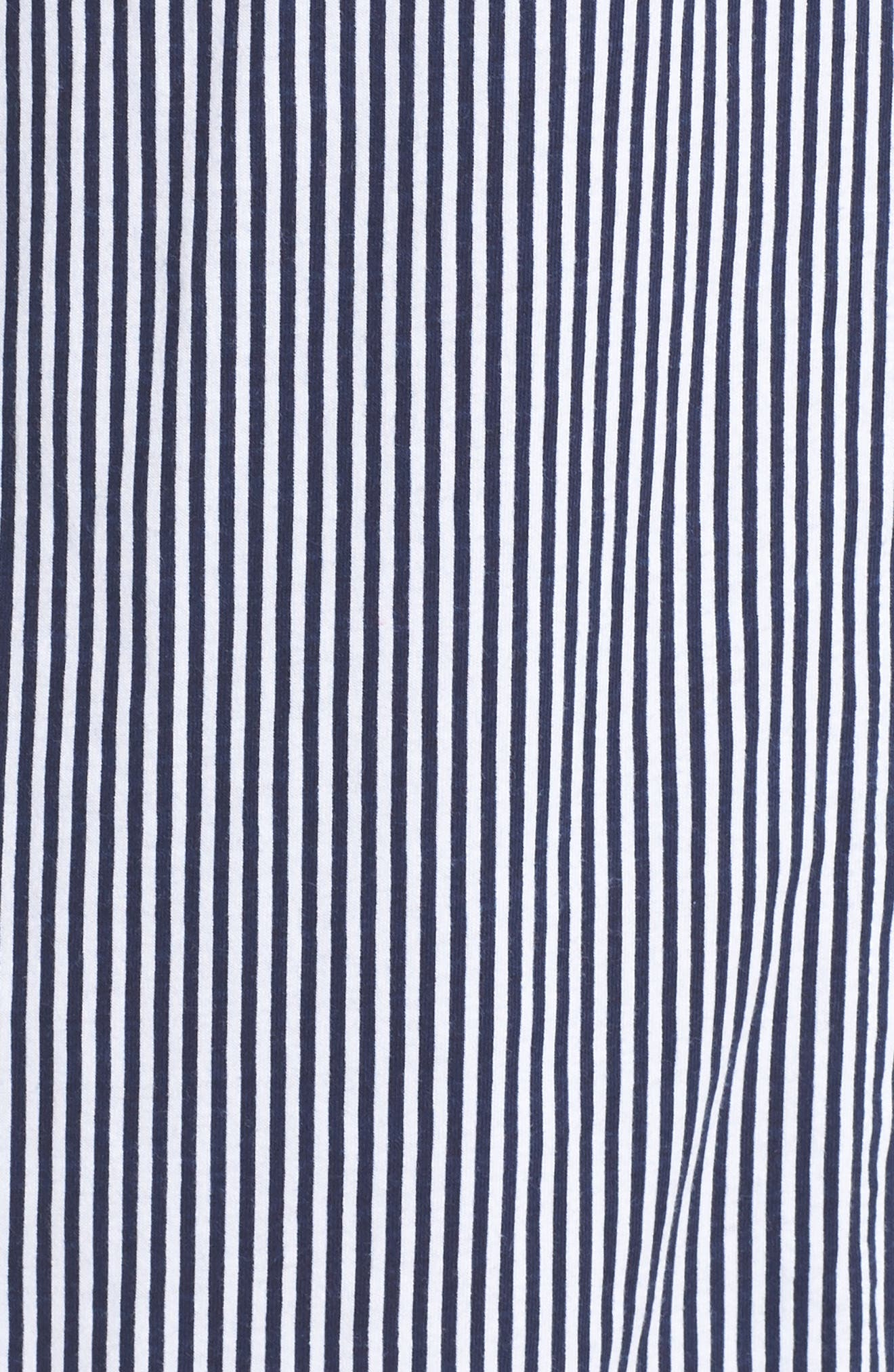 Jersey Sleep Shirt,                             Alternate thumbnail 4, color,                             Windsor Navy/ White Stripe