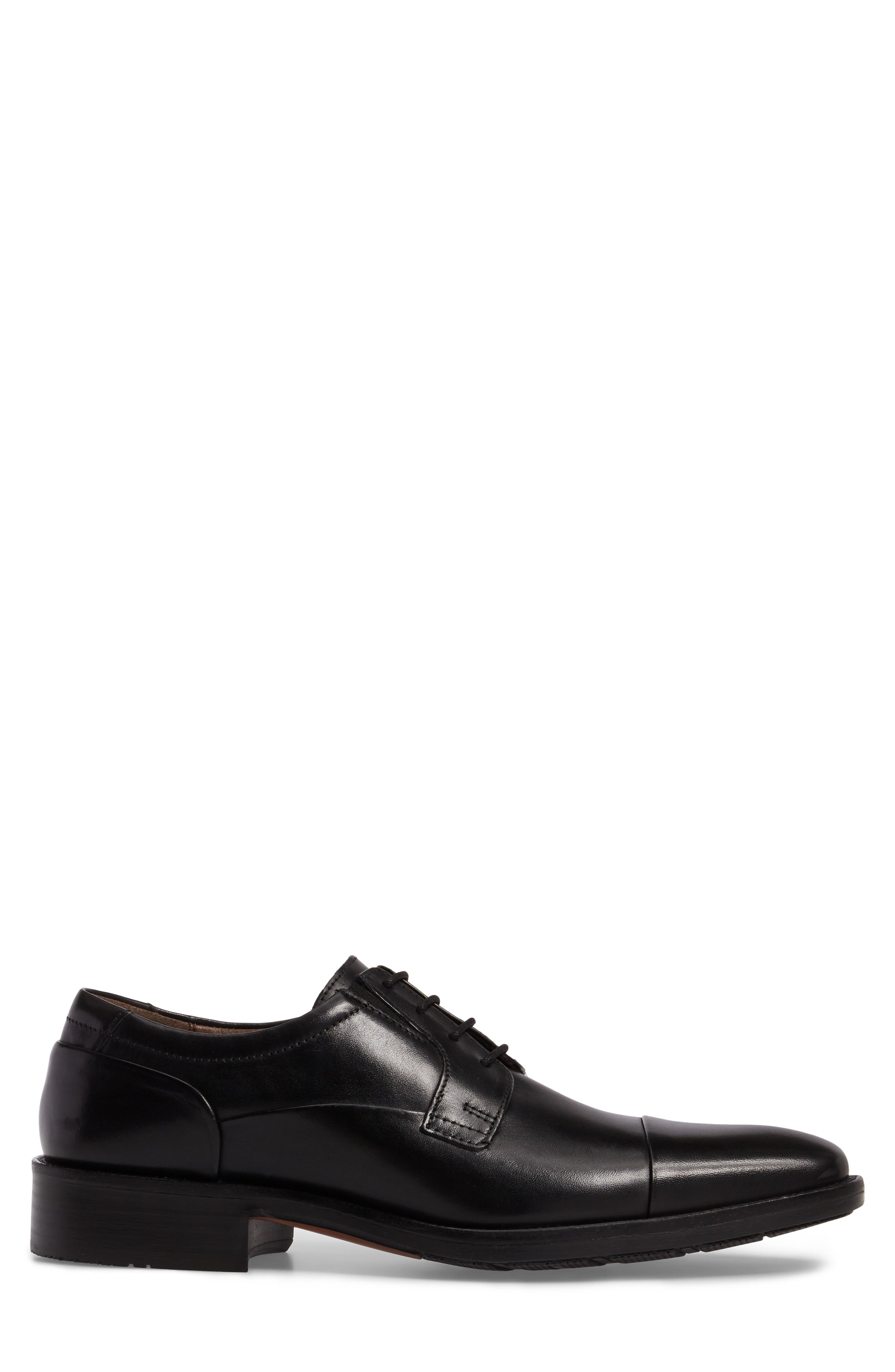 Lancaster Cap Toe Derby,                             Alternate thumbnail 3, color,                             Black