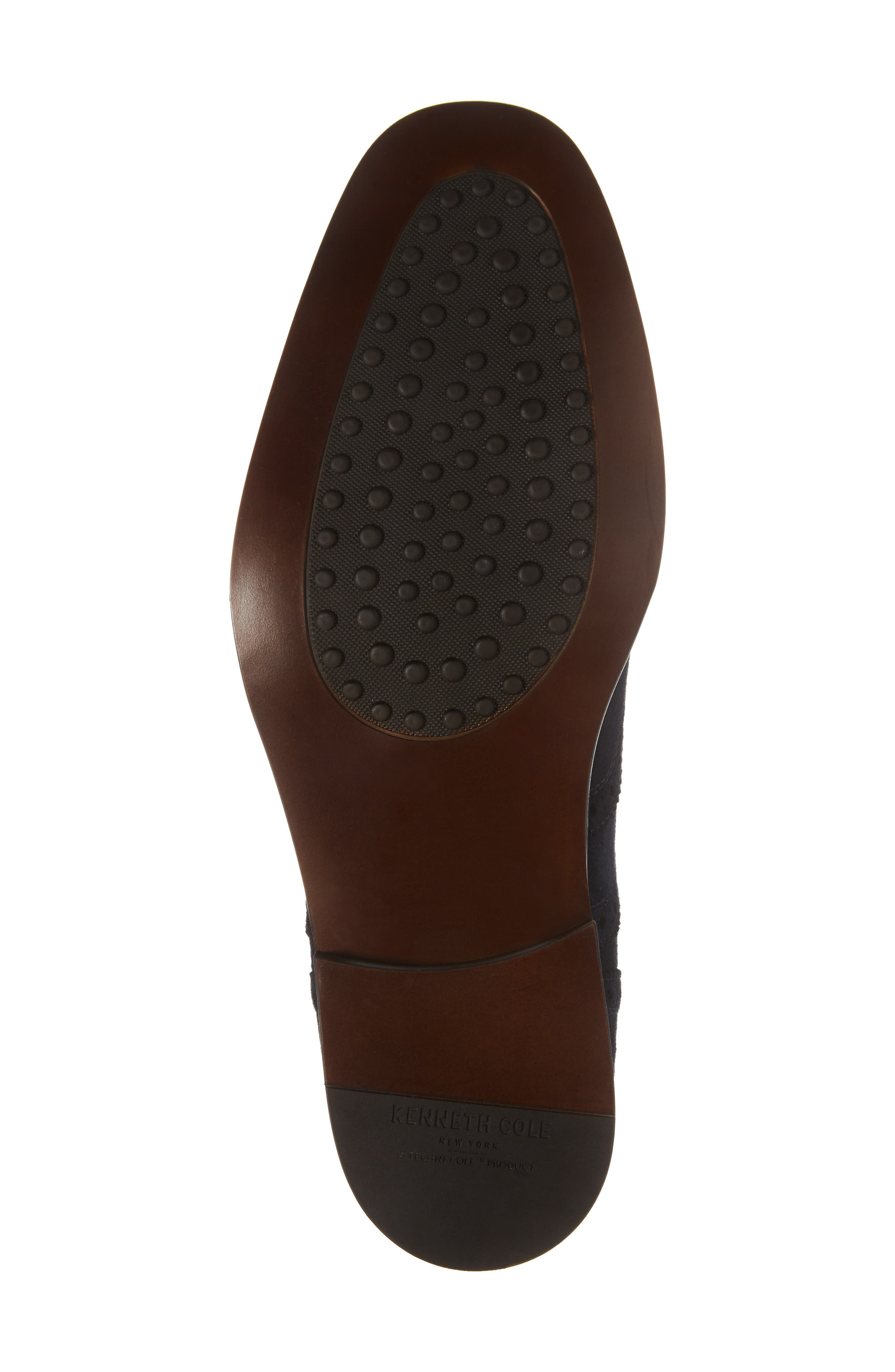 Wingtip,                             Alternate thumbnail 6, color,                             Midnight Navy Leather
