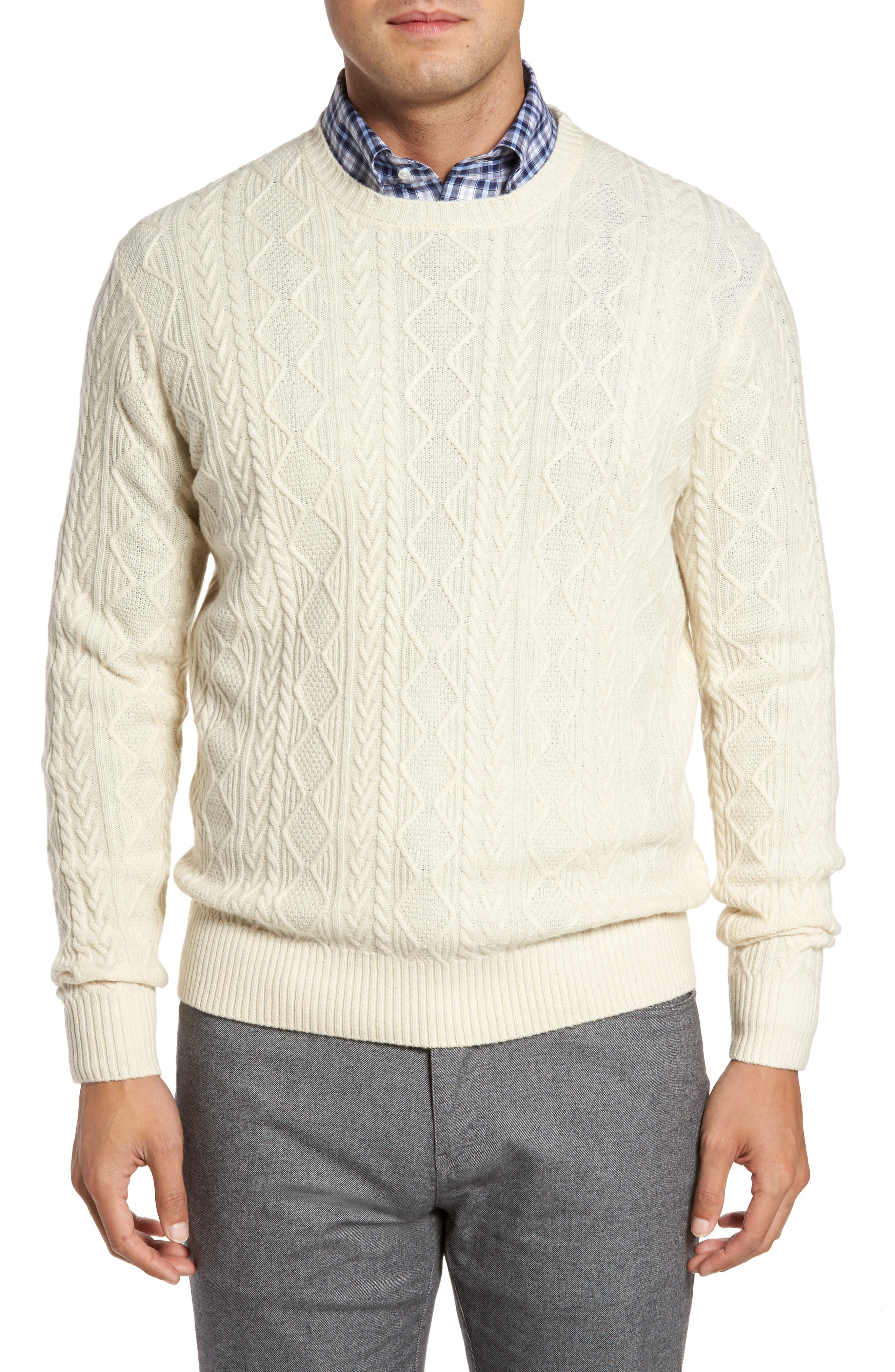 Peter Millar Crown Wool Blend Fisherman Sweater