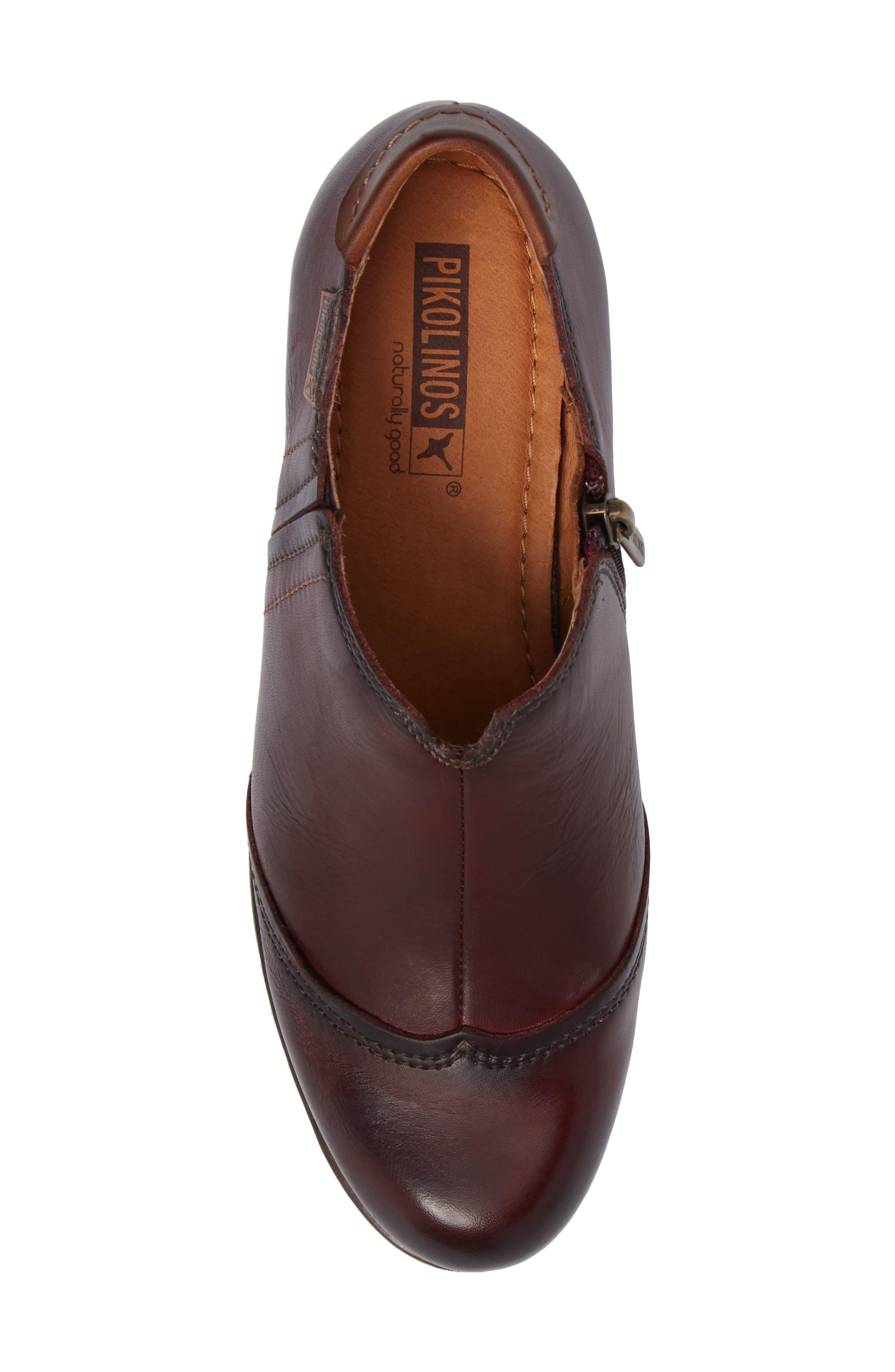 Rotterdam Bootie,                             Alternate thumbnail 5, color,                             Garnet Cuero Leather