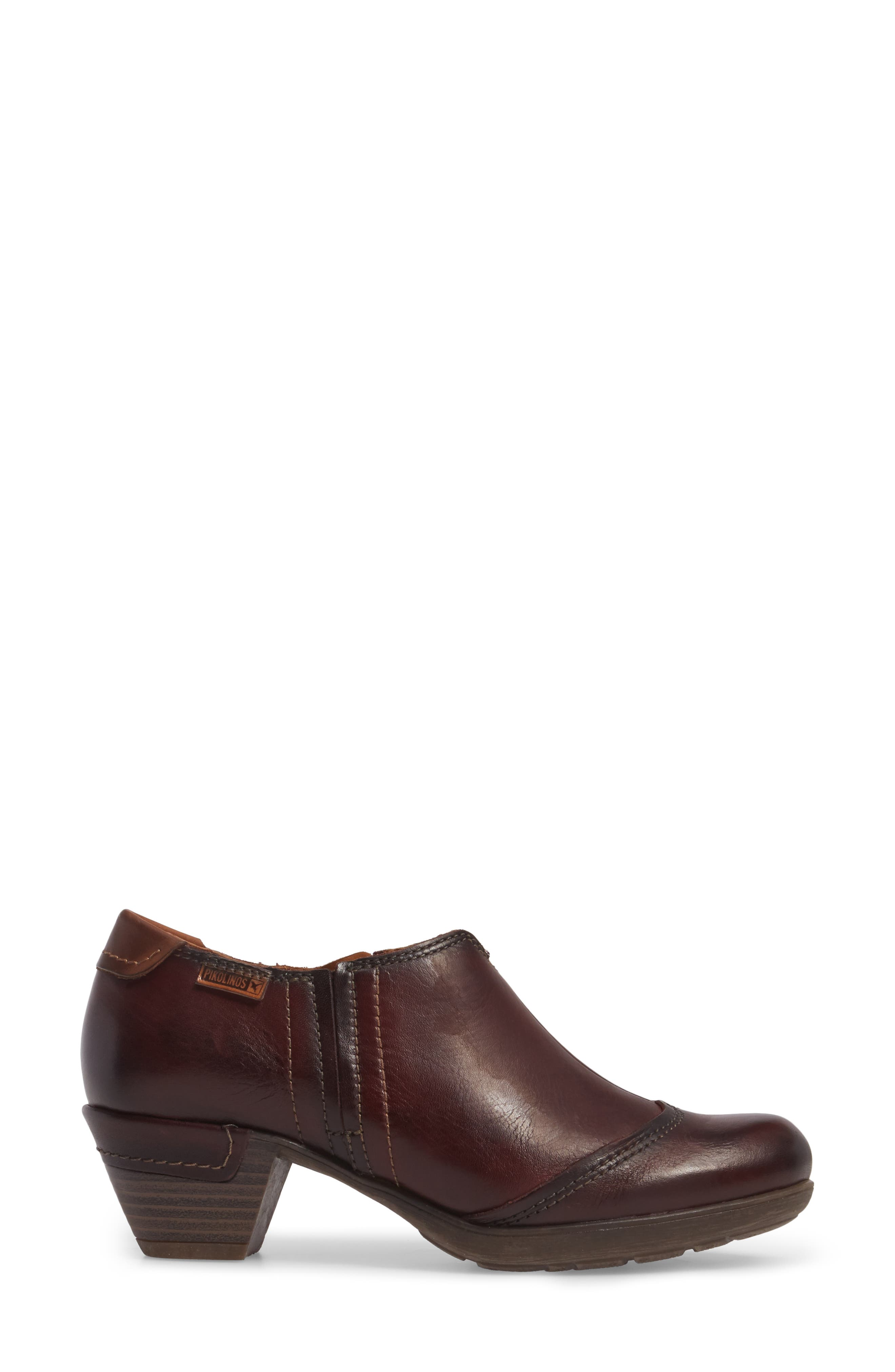 Rotterdam Bootie,                             Alternate thumbnail 3, color,                             Garnet Cuero Leather