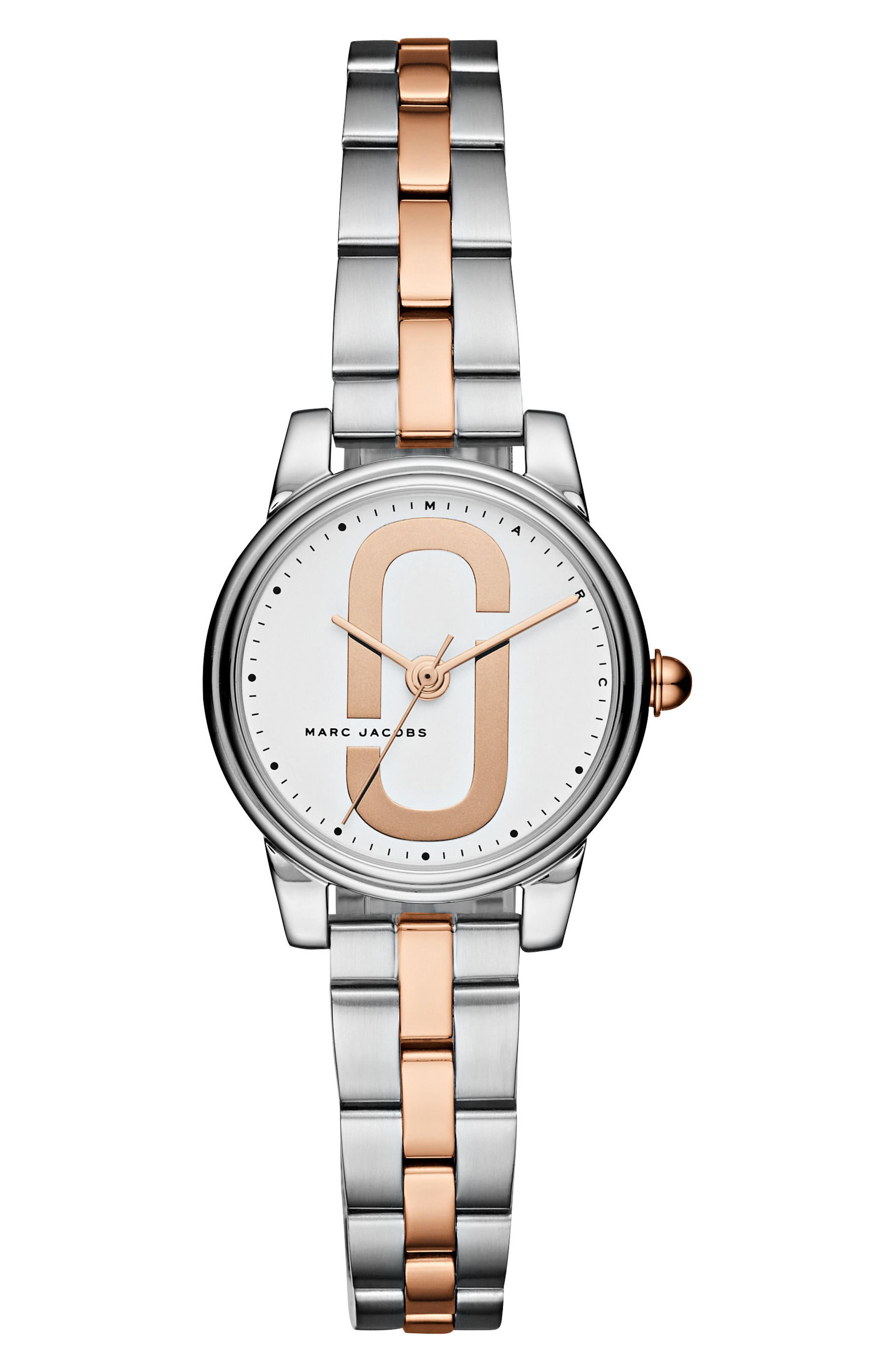Corie Bracelet Watch, 28mm,                         Main,                         color, Silver/ White/ Rose Gold