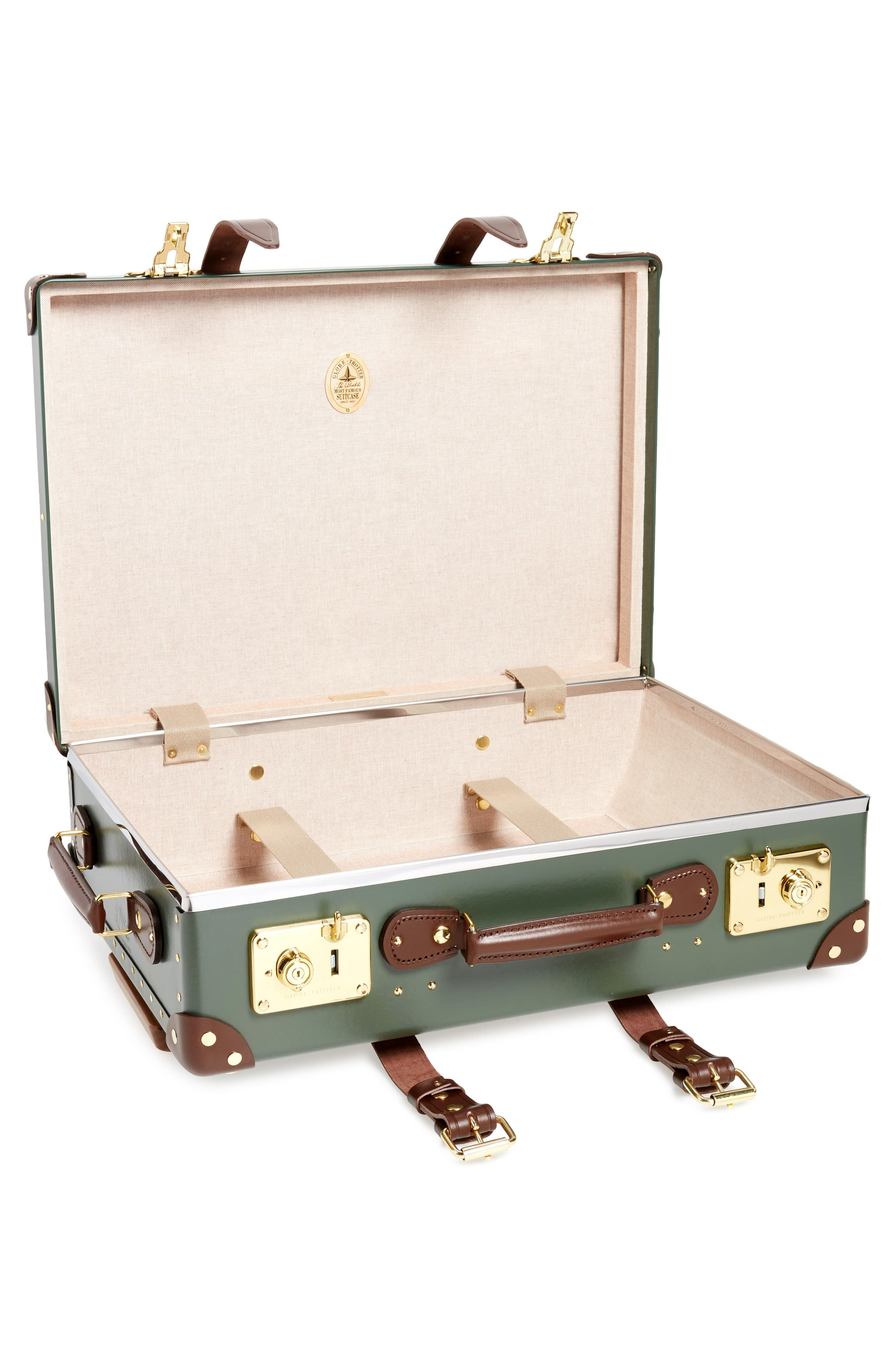 Centenary 21-Inch Hardshell Travel Trolley Case,                             Alternate thumbnail 2, color,                             Green/Tan