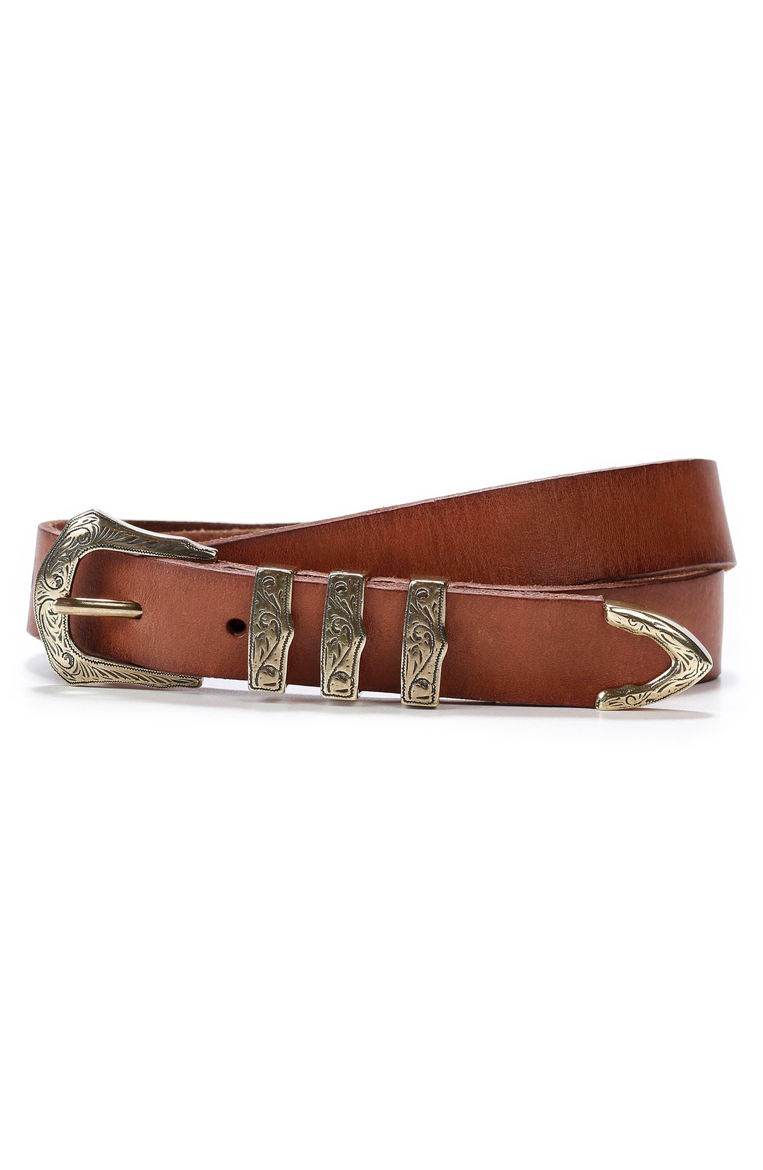 Main Image - PAIGE Abigail Leather Belt