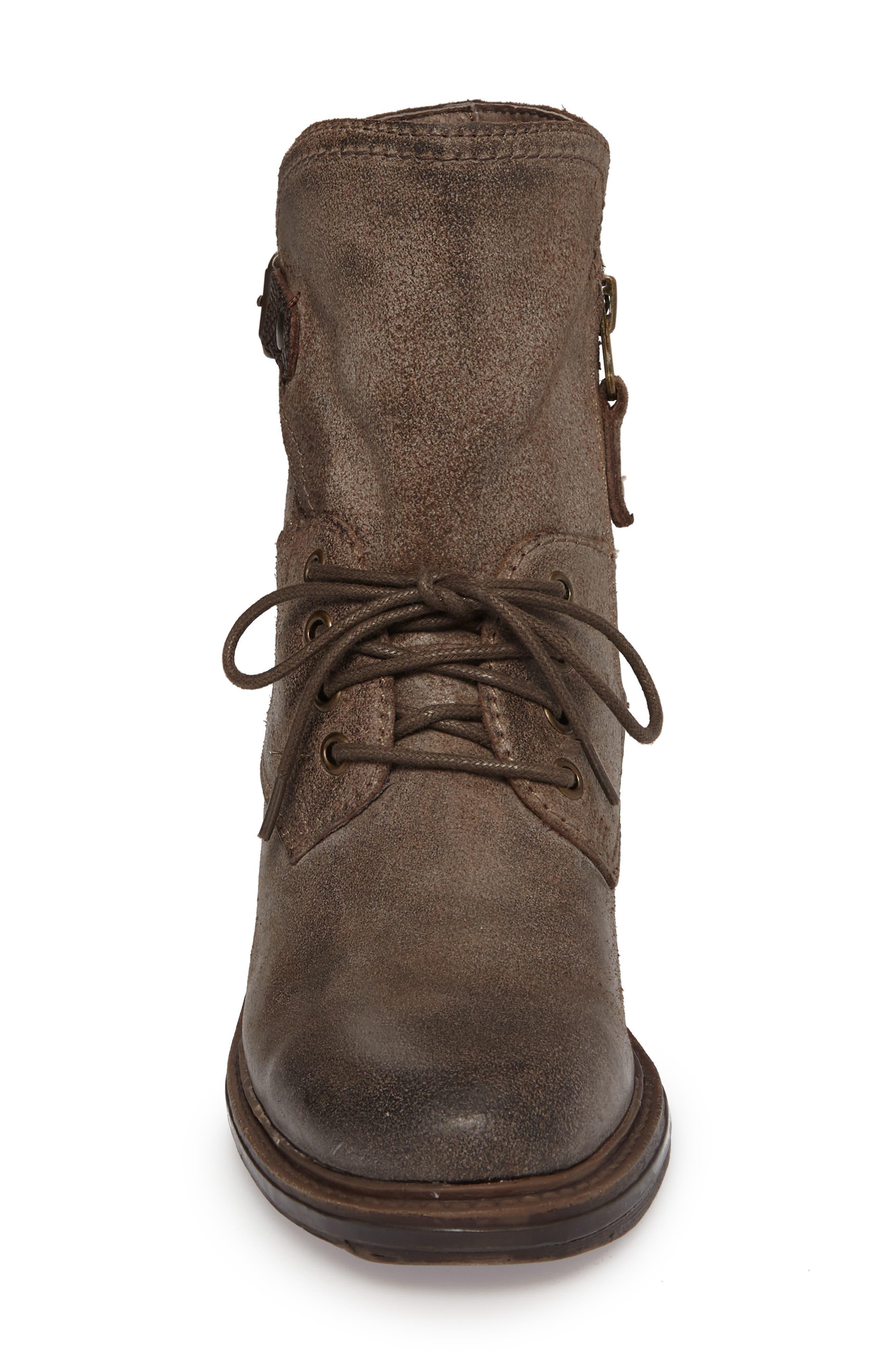 Gallivant Combat Bootie,                             Alternate thumbnail 4, color,                             Mint Leather