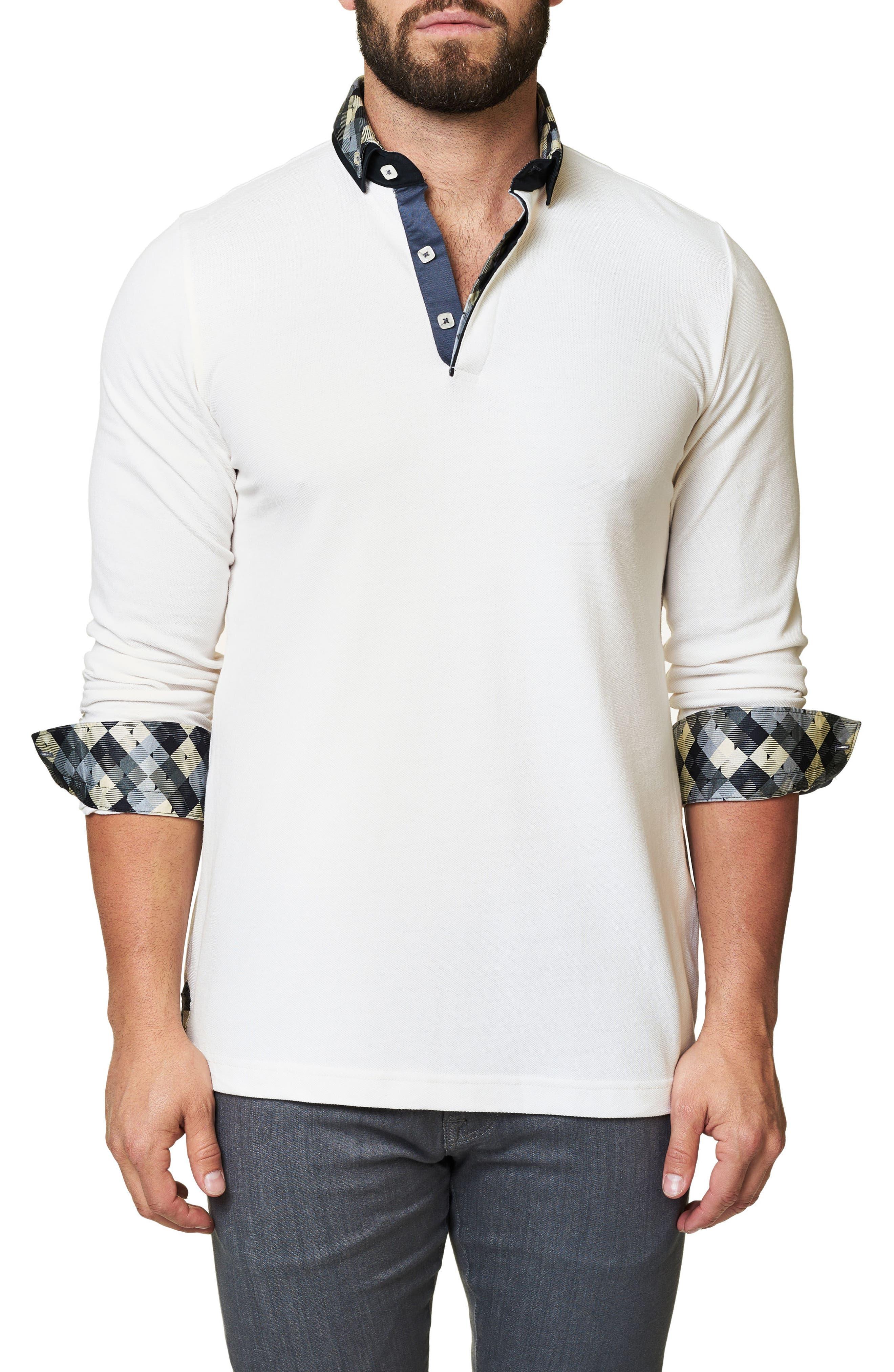 Alternate Image 3  - Maceoo Long Sleeve Polo