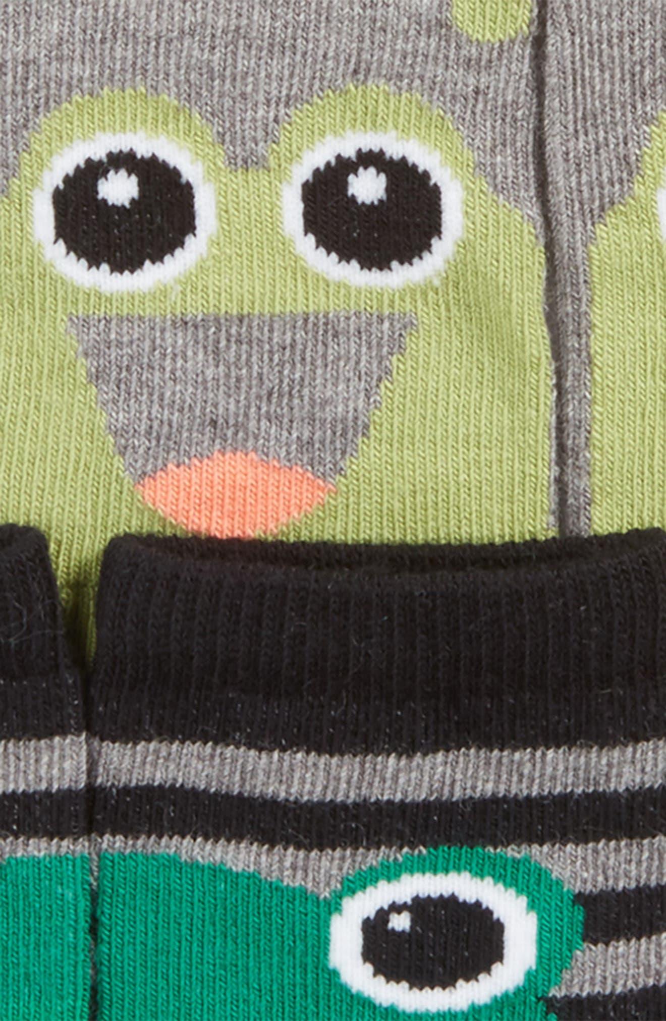 Alternate Image 2  - Tucker + Tate Assorted 3-Pack Frog Socks (Baby)