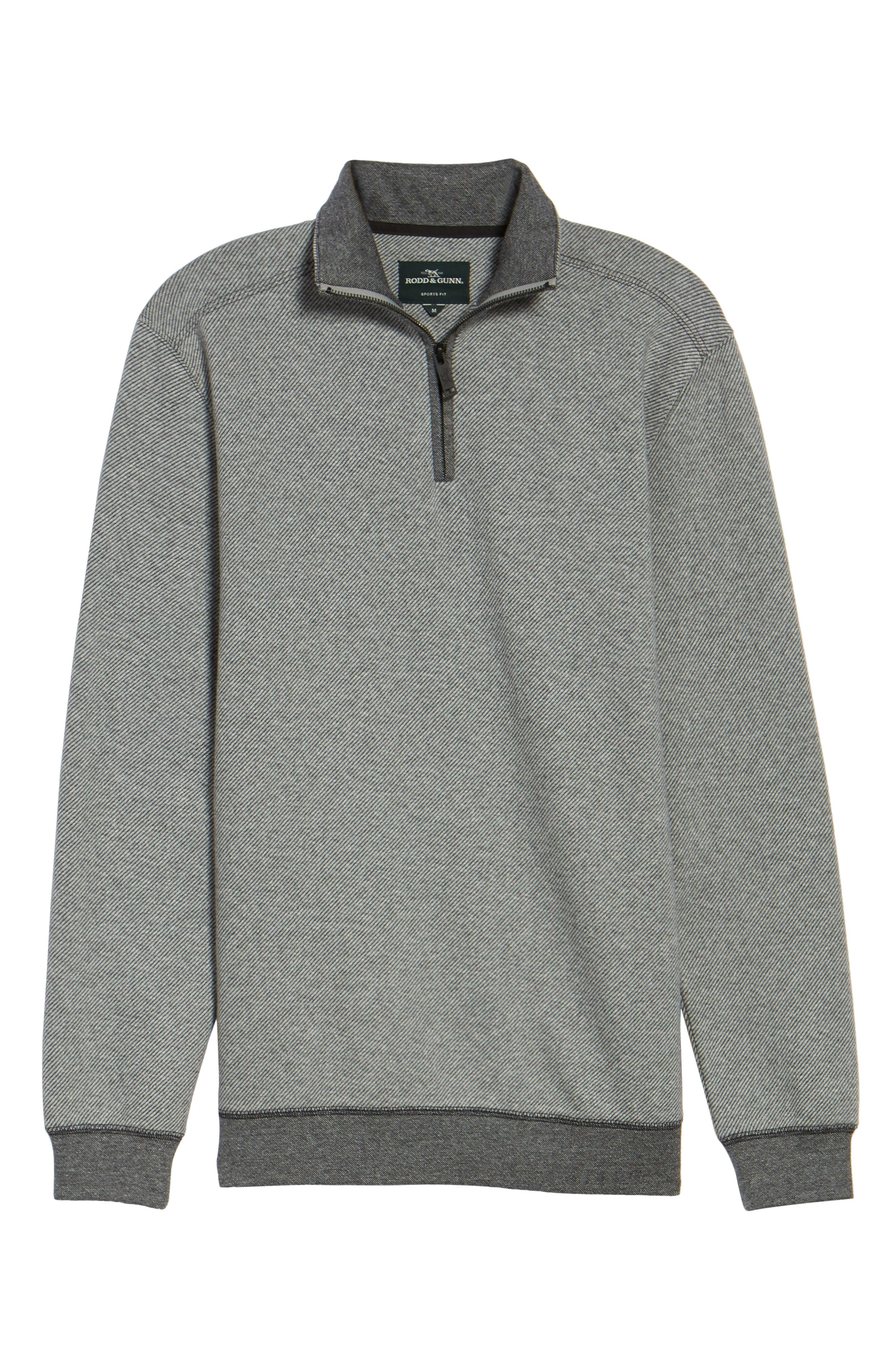 Meyer Desert Quarter Zip Pullover,                             Alternate thumbnail 6, color,                             Smoke