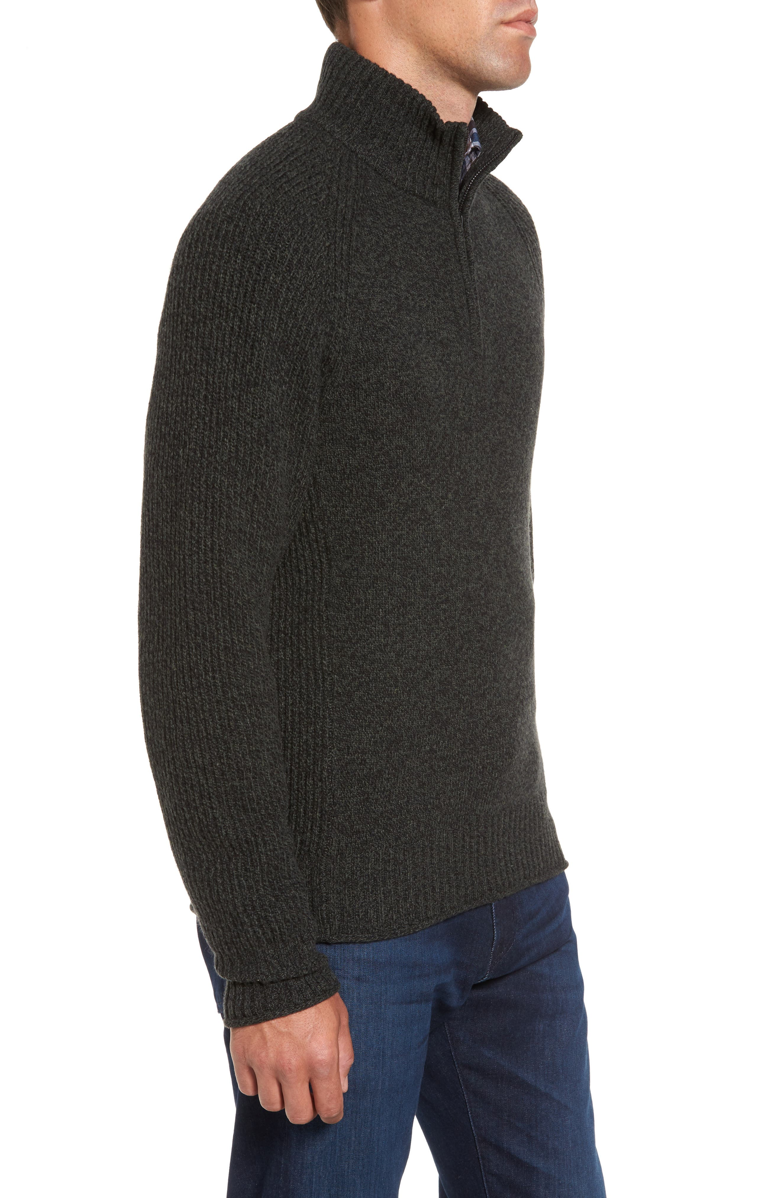 Stredwick Lambswool Sweater,                             Alternate thumbnail 3, color,                             Forest