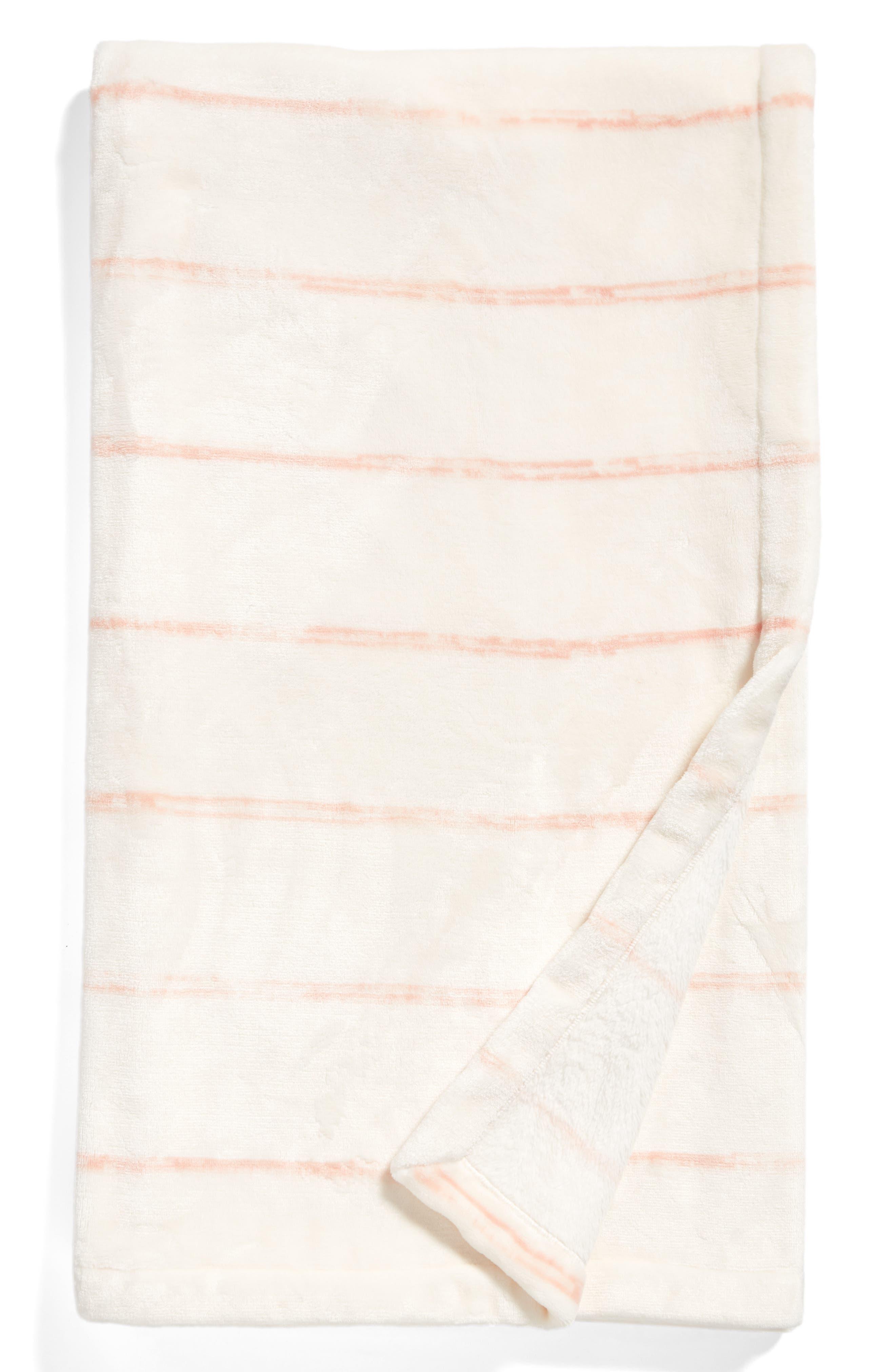 Stripe Throw,                             Main thumbnail 1, color,                             Blush