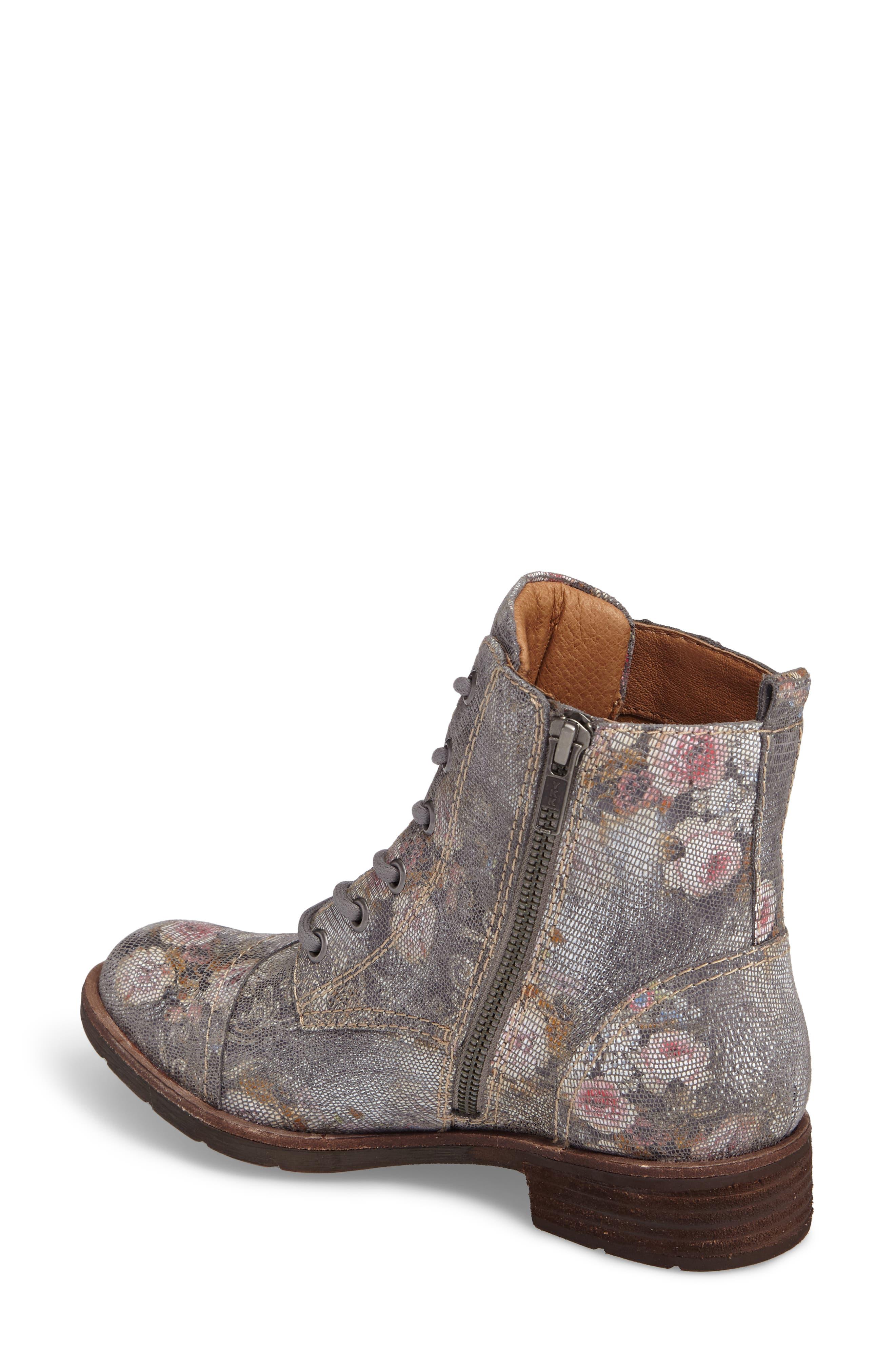 Belton Cap Toe Combat Boot,                             Alternate thumbnail 2, color,                             Grey Leather