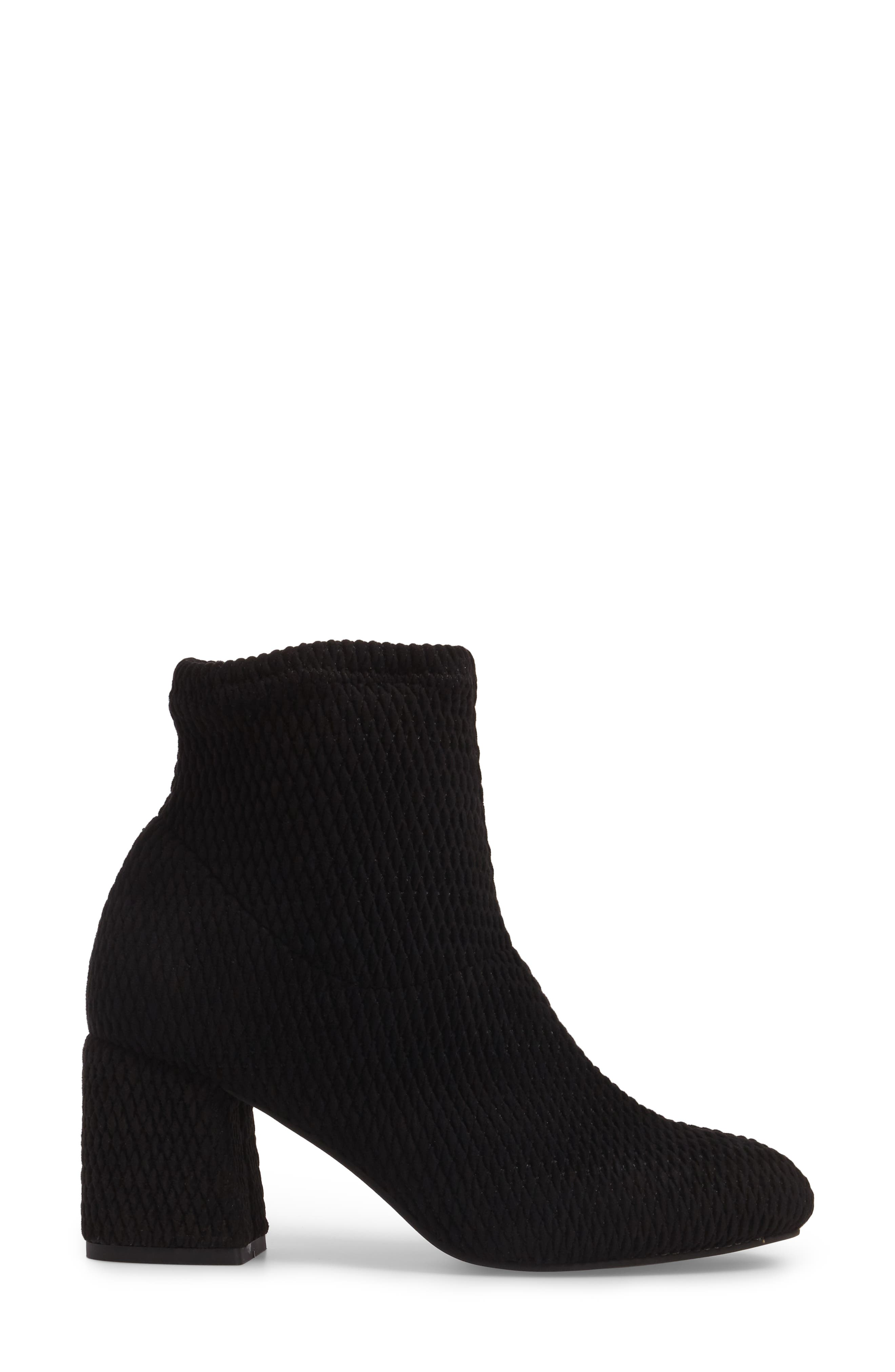 Ad Lib Sock Bootie,                             Alternate thumbnail 3, color,                             Black Fabric