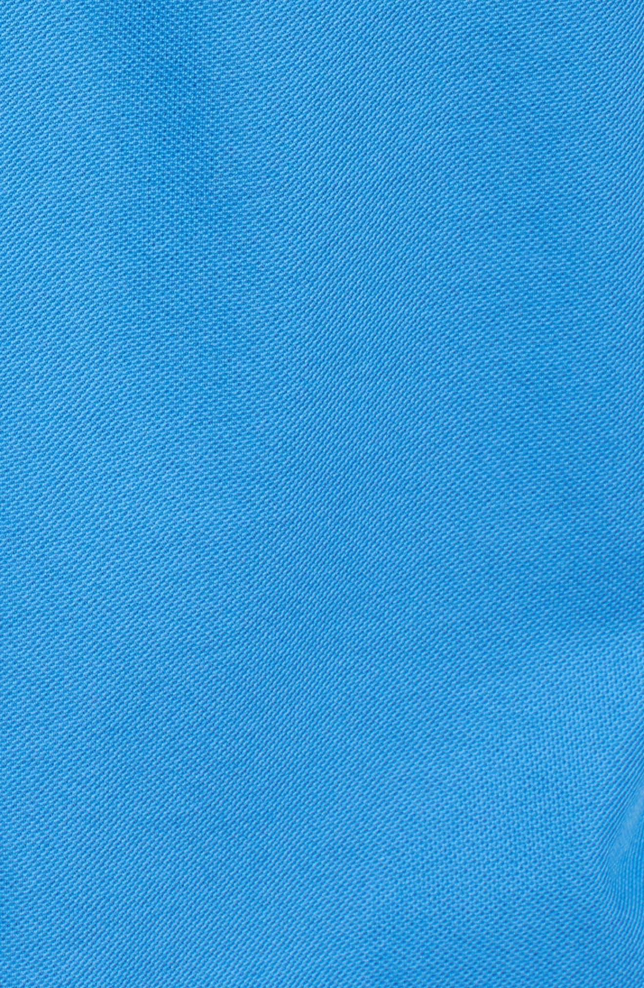Classic Fit Piqué Knit Shirt,                             Alternate thumbnail 5, color,                             Classic Blue