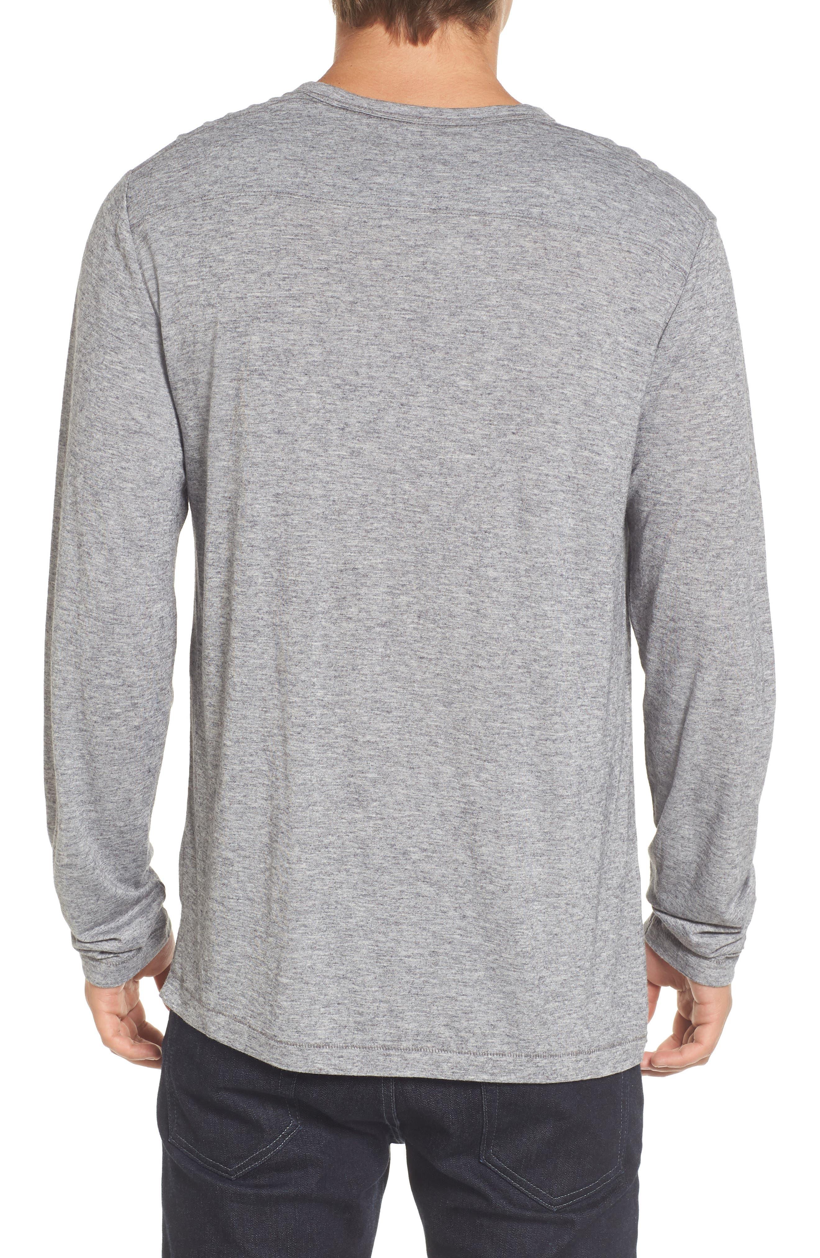 Long Sleeve T-Shirt,                             Alternate thumbnail 2, color,                             Grey Melange