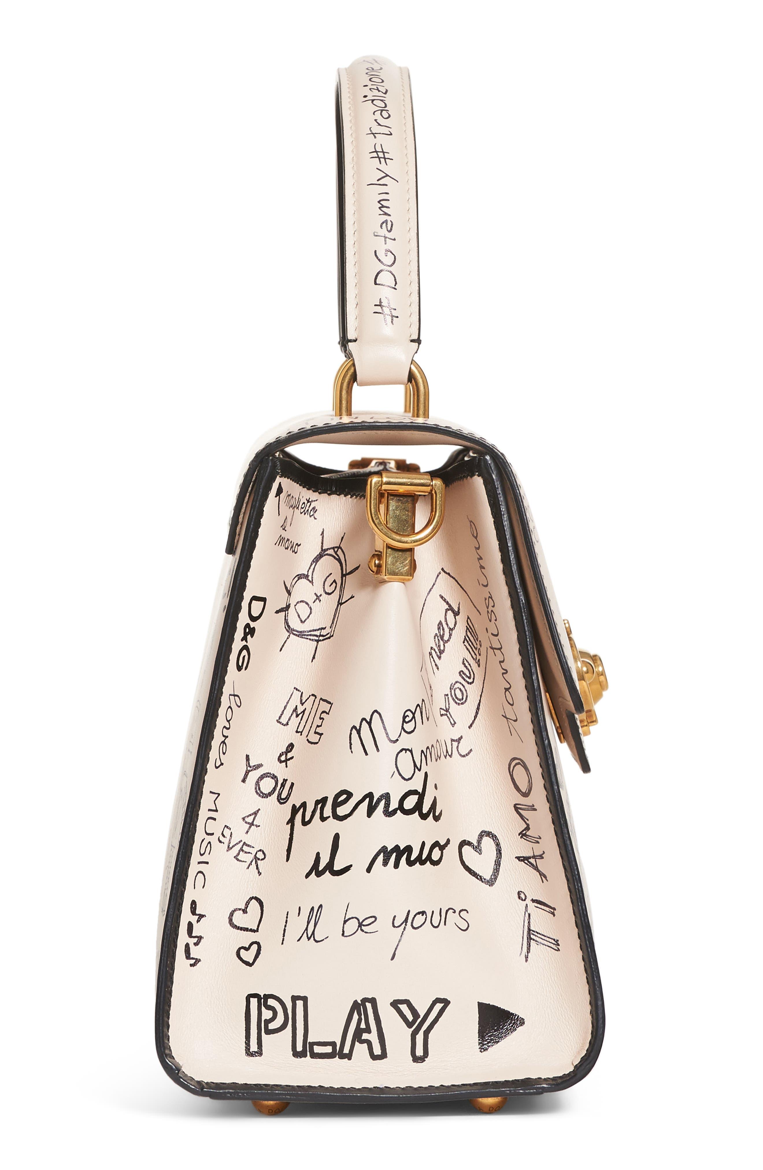 Alternate Image 5  - Dolce&Gabbana Medium Welcome Leather Satchel