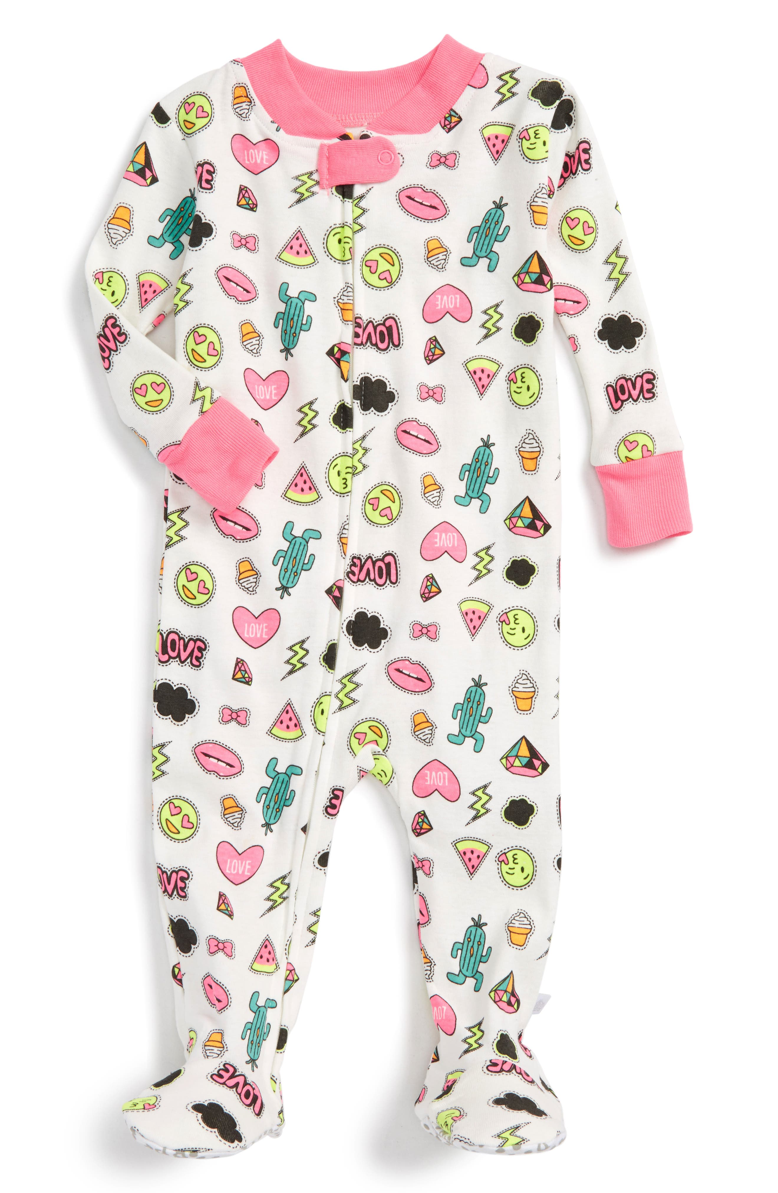 Rosie Pope Fitted One-Piece Pajamas (Baby Girls)