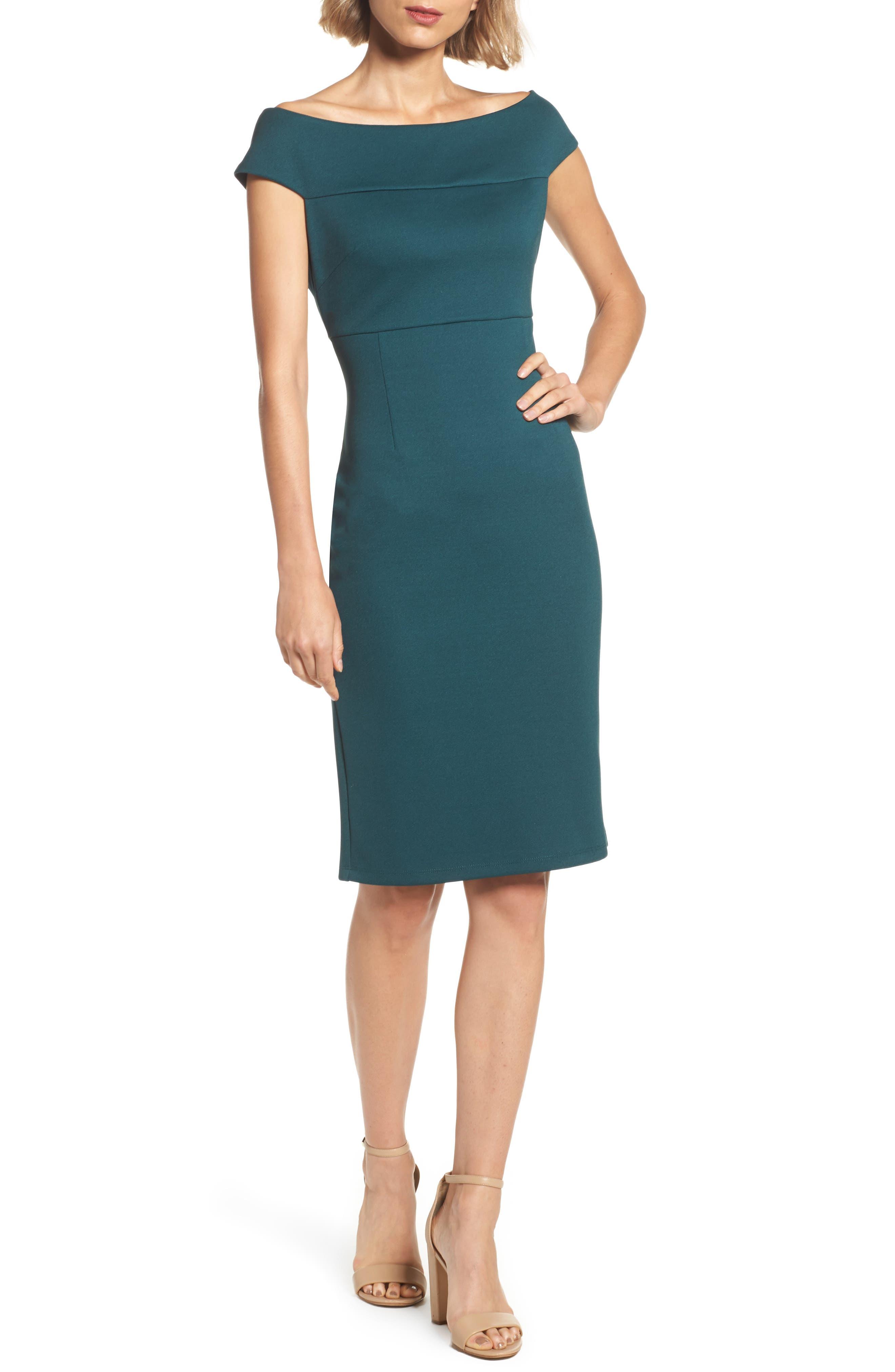 Sheath Dress,                         Main,                         color, Hunter
