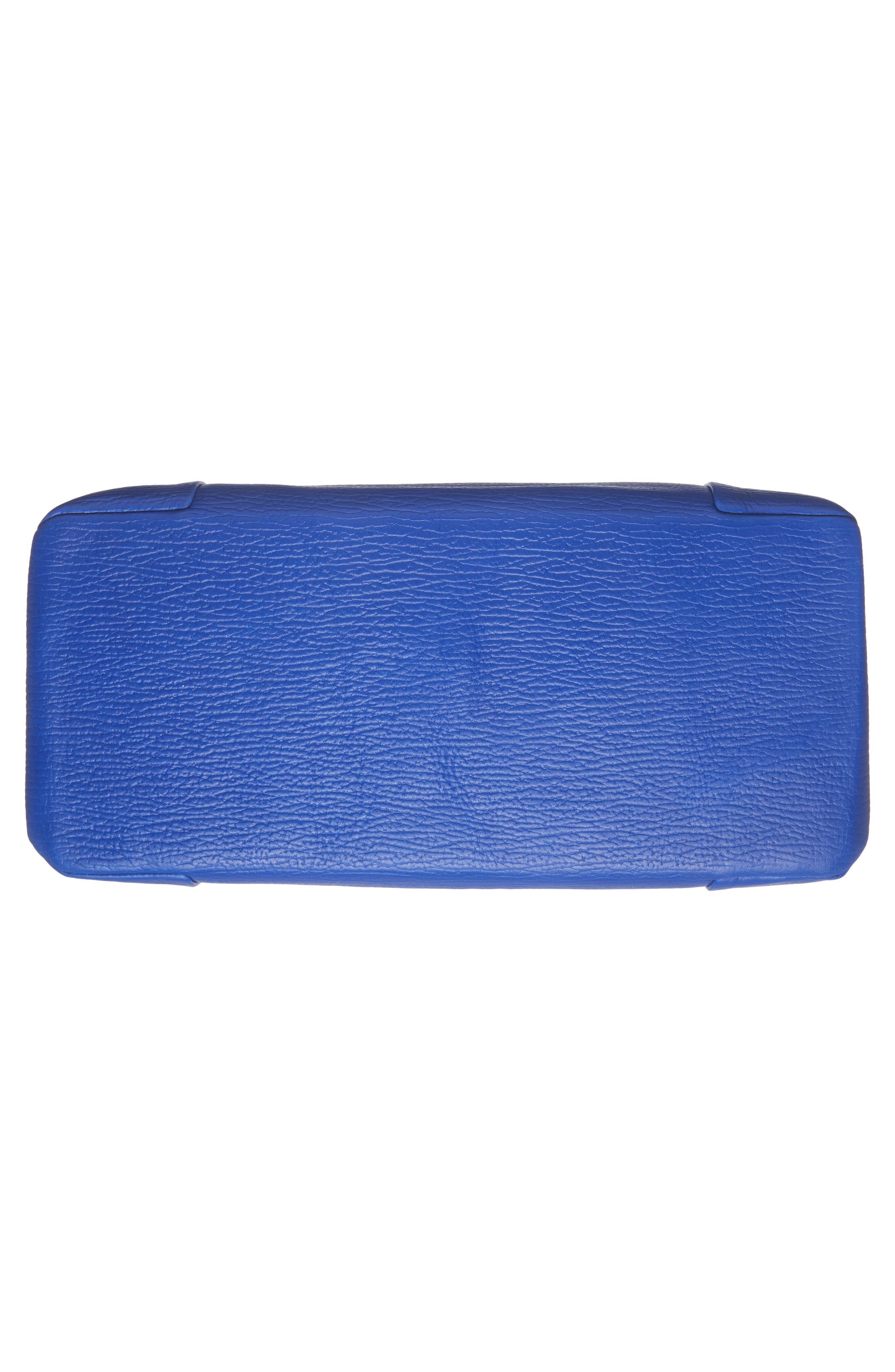 Proter Leather Shoulder Bag,                             Alternate thumbnail 5, color,                             Bright Blue