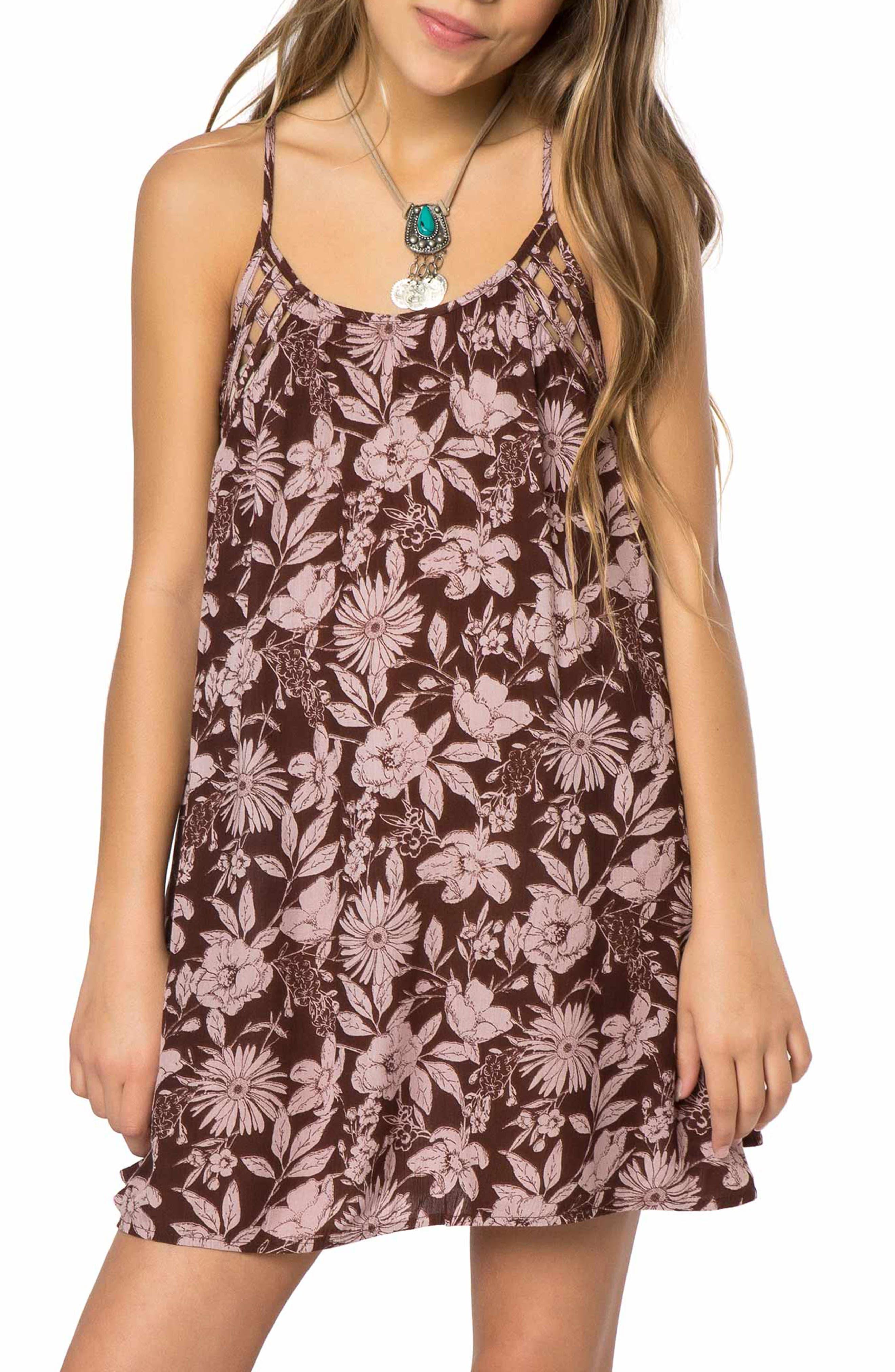 Otis Tank Dress,                         Main,                         color, Deep Mahogany