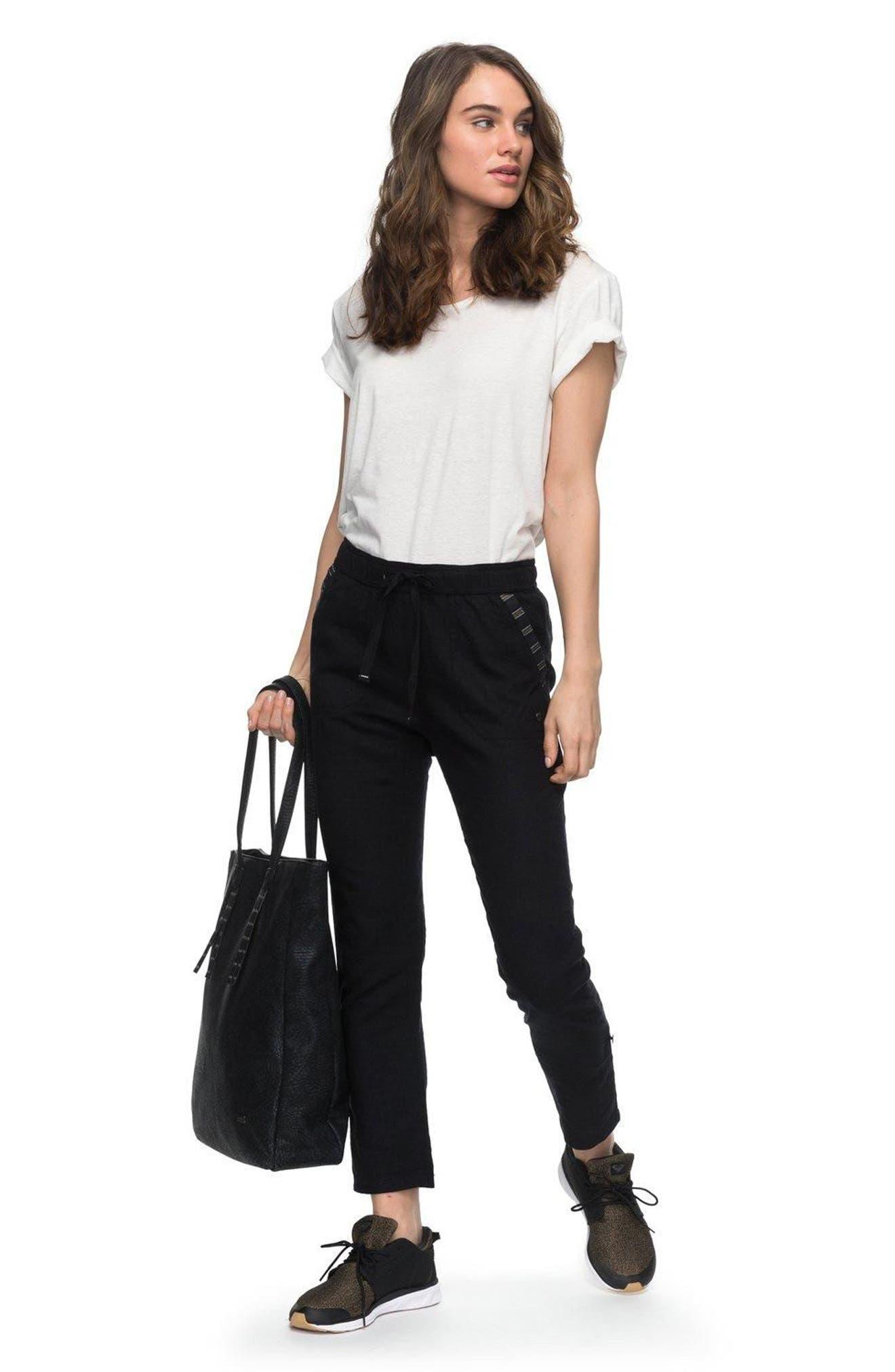 Alternate Image 2  - Roxy Symphony Lover Linen Blend Pants