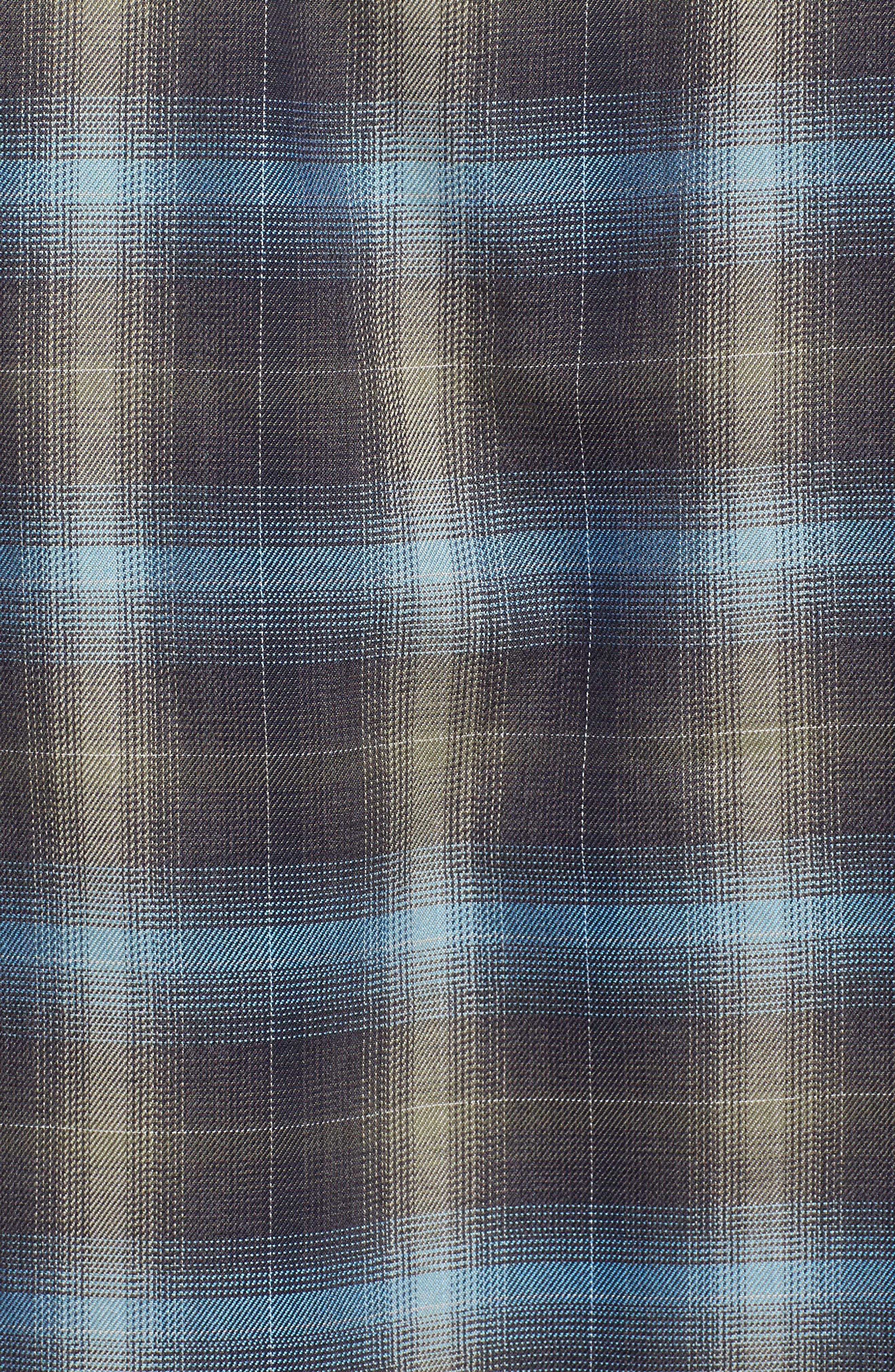Alternate Image 5  - Coastaoro Walnut Plaid Garment Washed Flannel Shirt