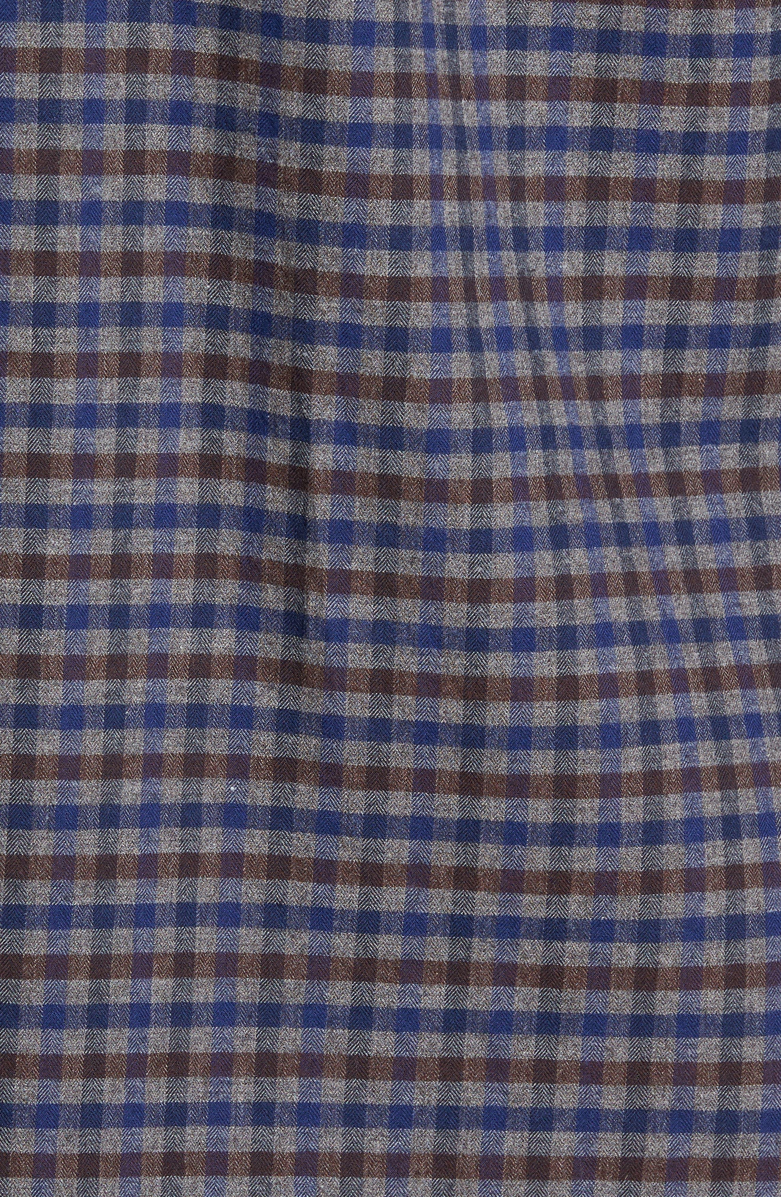 Alternate Image 5  - Nordstrom Men's Shop Regular Fit Lumber Check Flannel Shirt