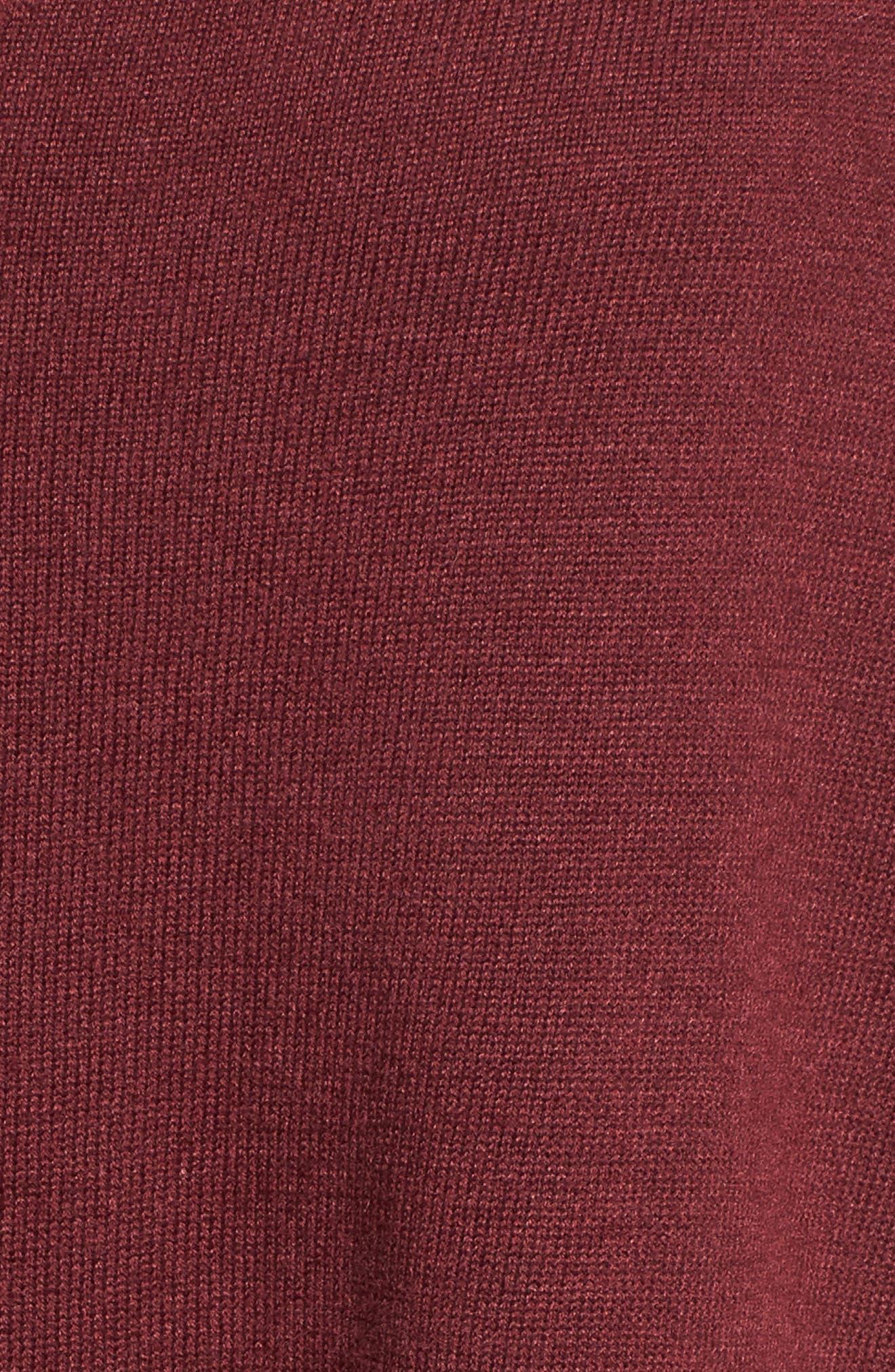 'Everyday' V-Neck Sweater,                             Alternate thumbnail 5, color,                             Burgundy London