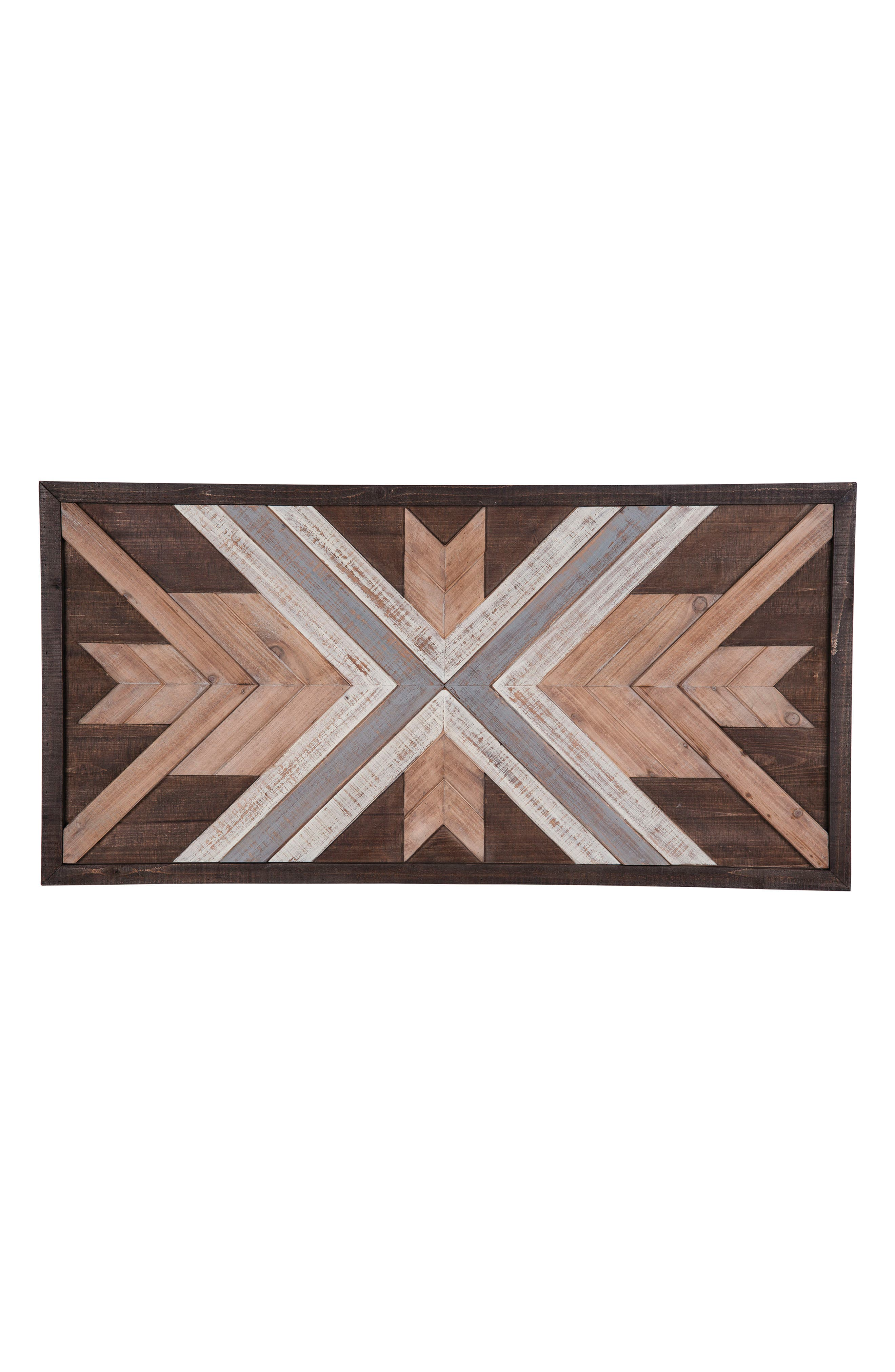 Slatted Wood Wall Art,                             Main thumbnail 1, color,                             Wood