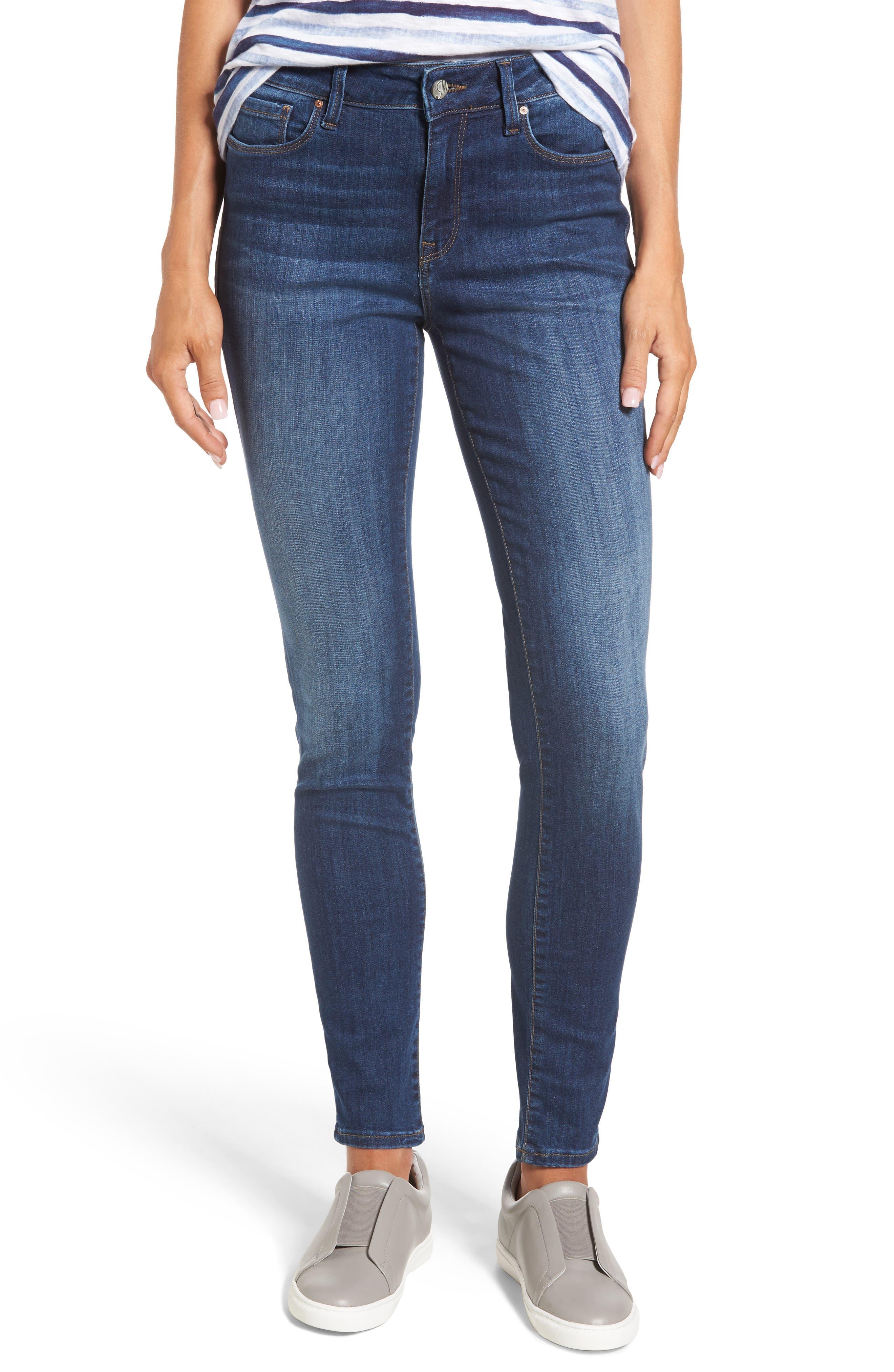Main Image - Mavi Jeans Alissa Super Skinny Jeans (Dark Indigo Tribeca)
